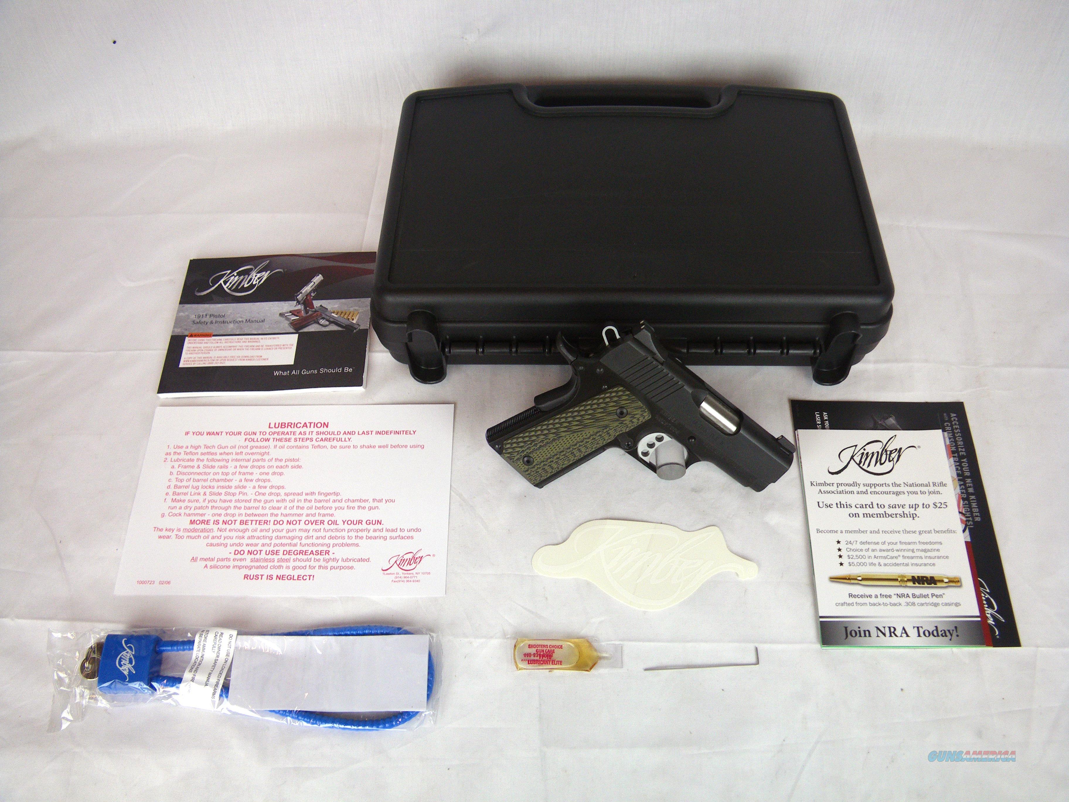 "Kimber Ultra TLE II 45ACP 3"" NEW Night Sights #3200341  Guns > Pistols > Kimber of America Pistols > 1911"