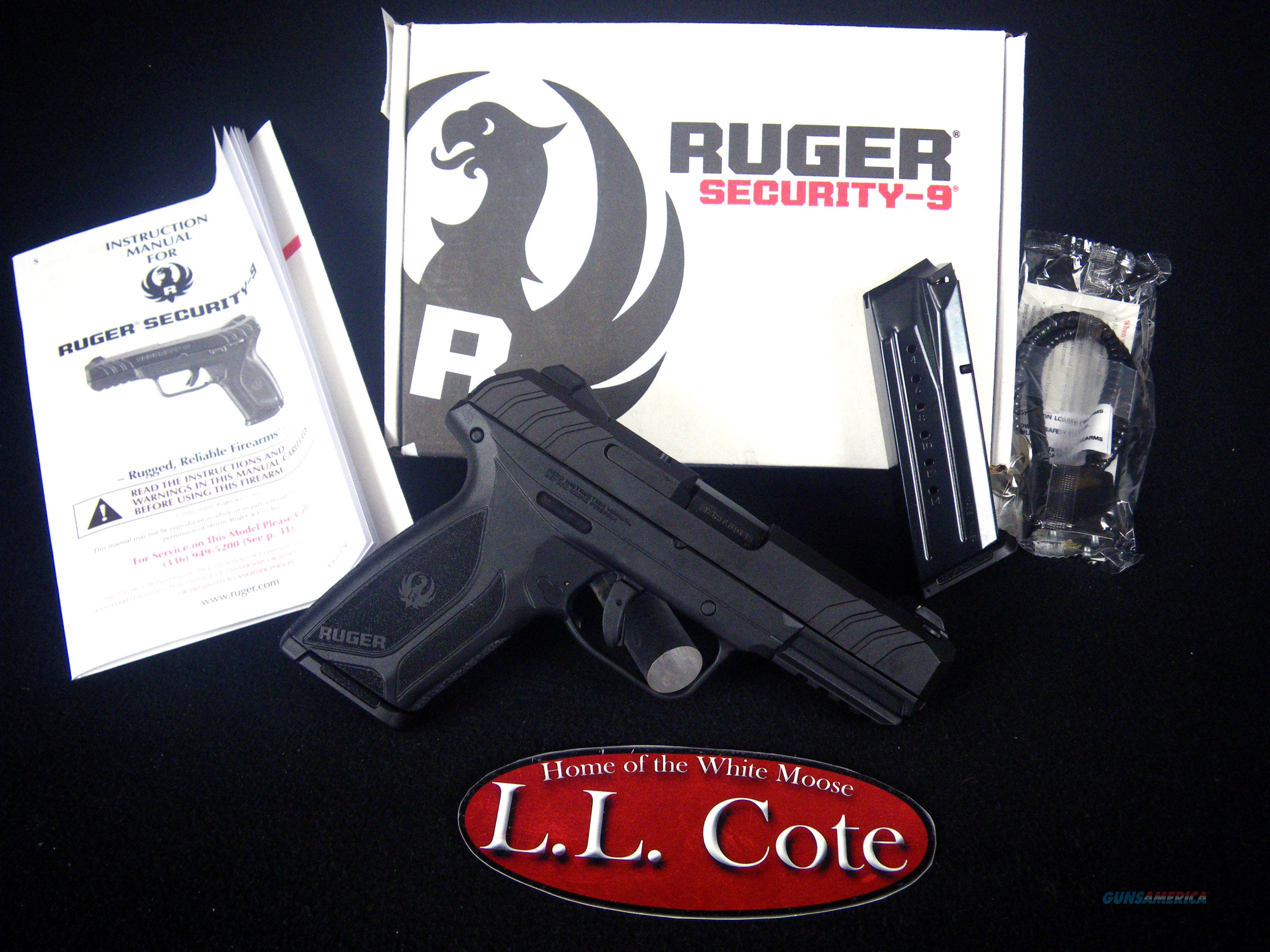 """Ruger Security-9 9mm Luger 4"""" Blued/Syn NEW 3810  Guns > Pistols > Ruger Semi-Auto Pistols > Security 9"""