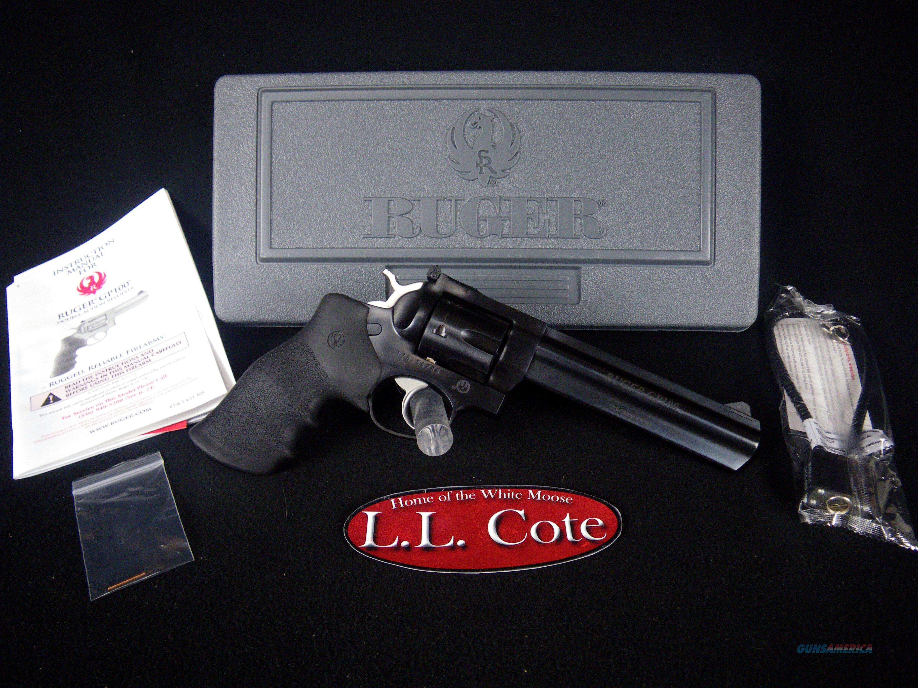 """Ruger GP100 357 Mag 6"""" Blued/Rubber 6rnd NEW 1704  Guns > Pistols > Ruger Double Action Revolver > GP100"""
