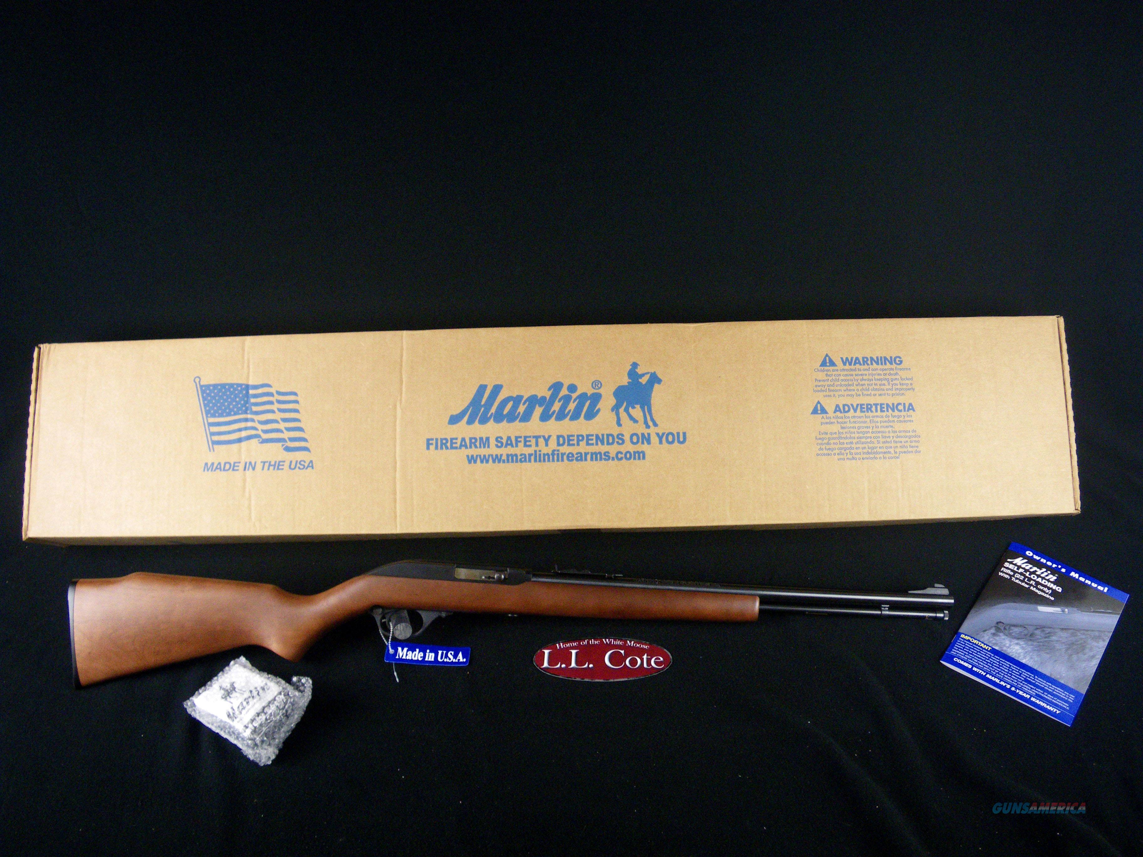 "Marlin Model 60 22LR 19"" Wood/Blued NEW 70620  Guns > Rifles > Marlin Rifles > Modern > Semi-auto"