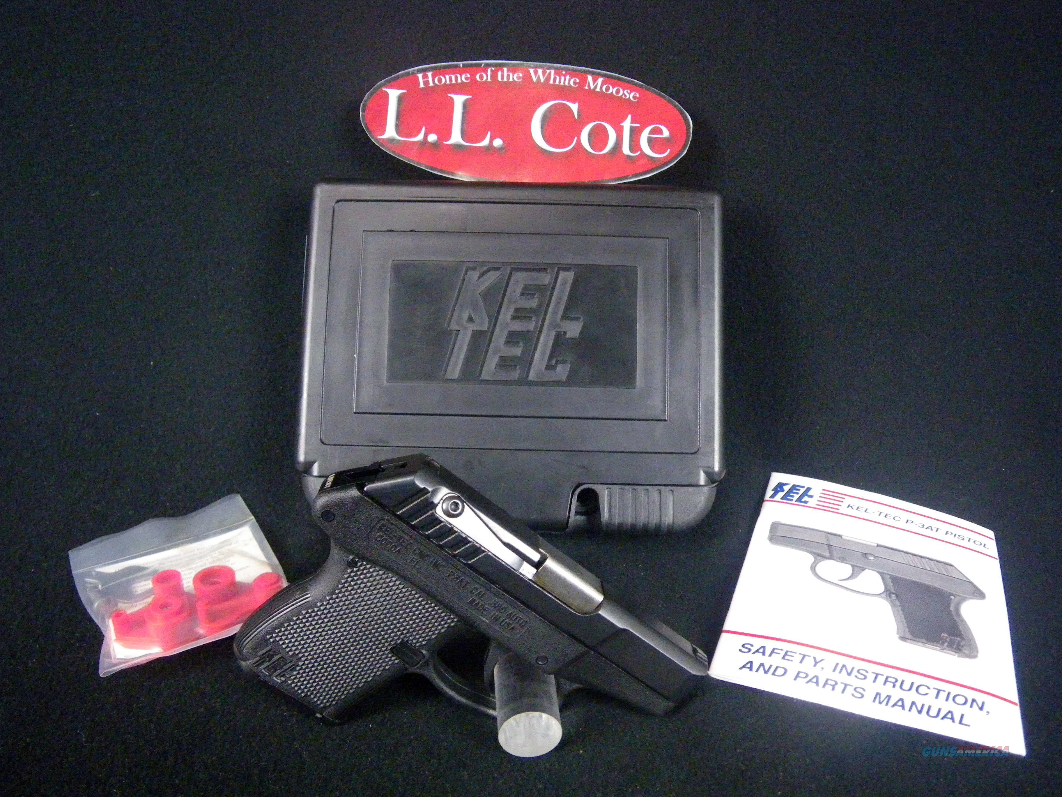 "Kel-Tec P-3AT 380acp 2.75"" NEW Matte Black 6 Round P-3AT  Guns > Pistols > Kel-Tec Pistols > Pocket Pistol Type"
