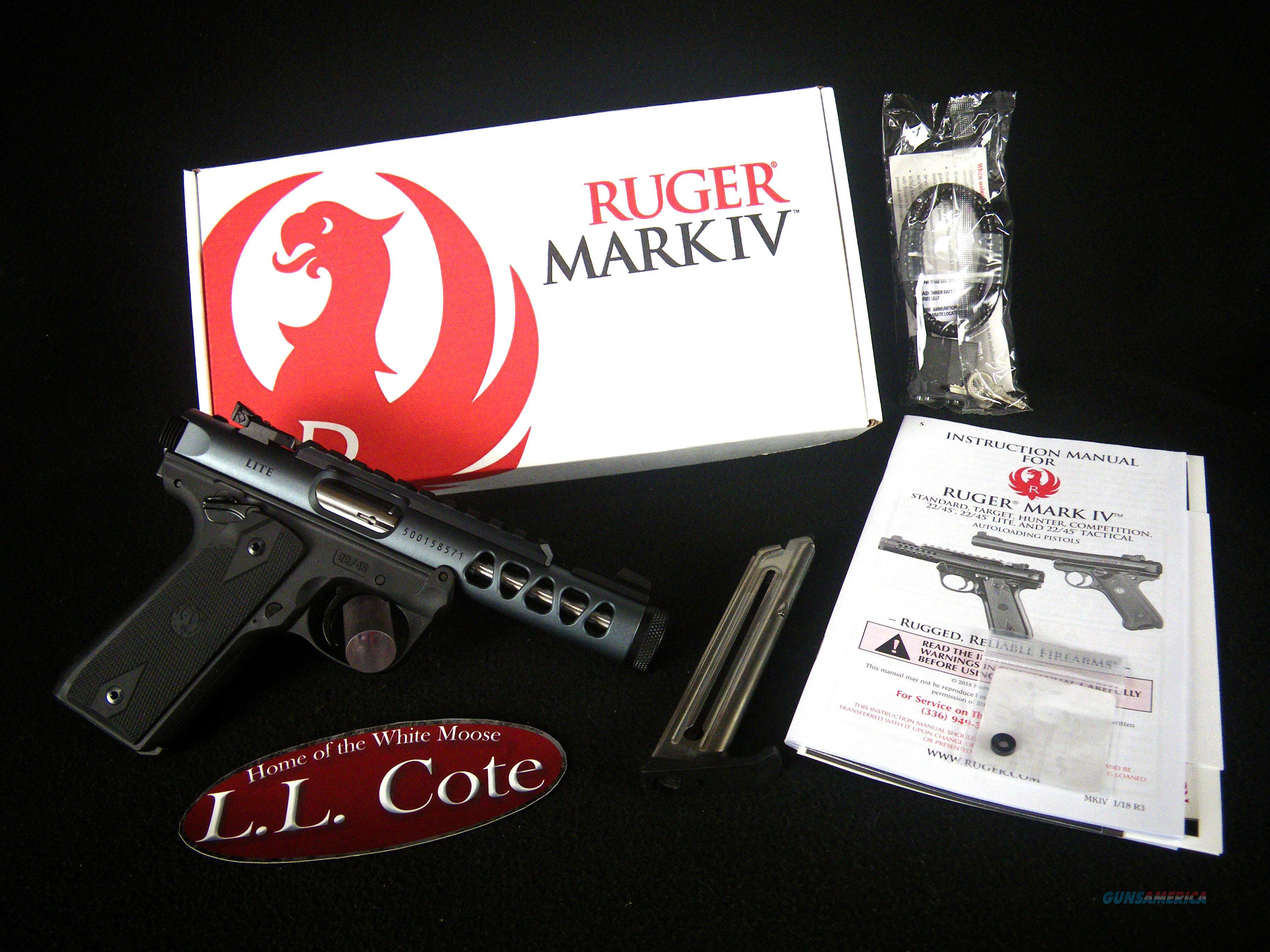 "Ruger Mark IV 22/45 Lite 22lr 4.4"" NEW 43917  Guns > Pistols > Ruger Semi-Auto Pistols > Mark I/II/III/IV Family"