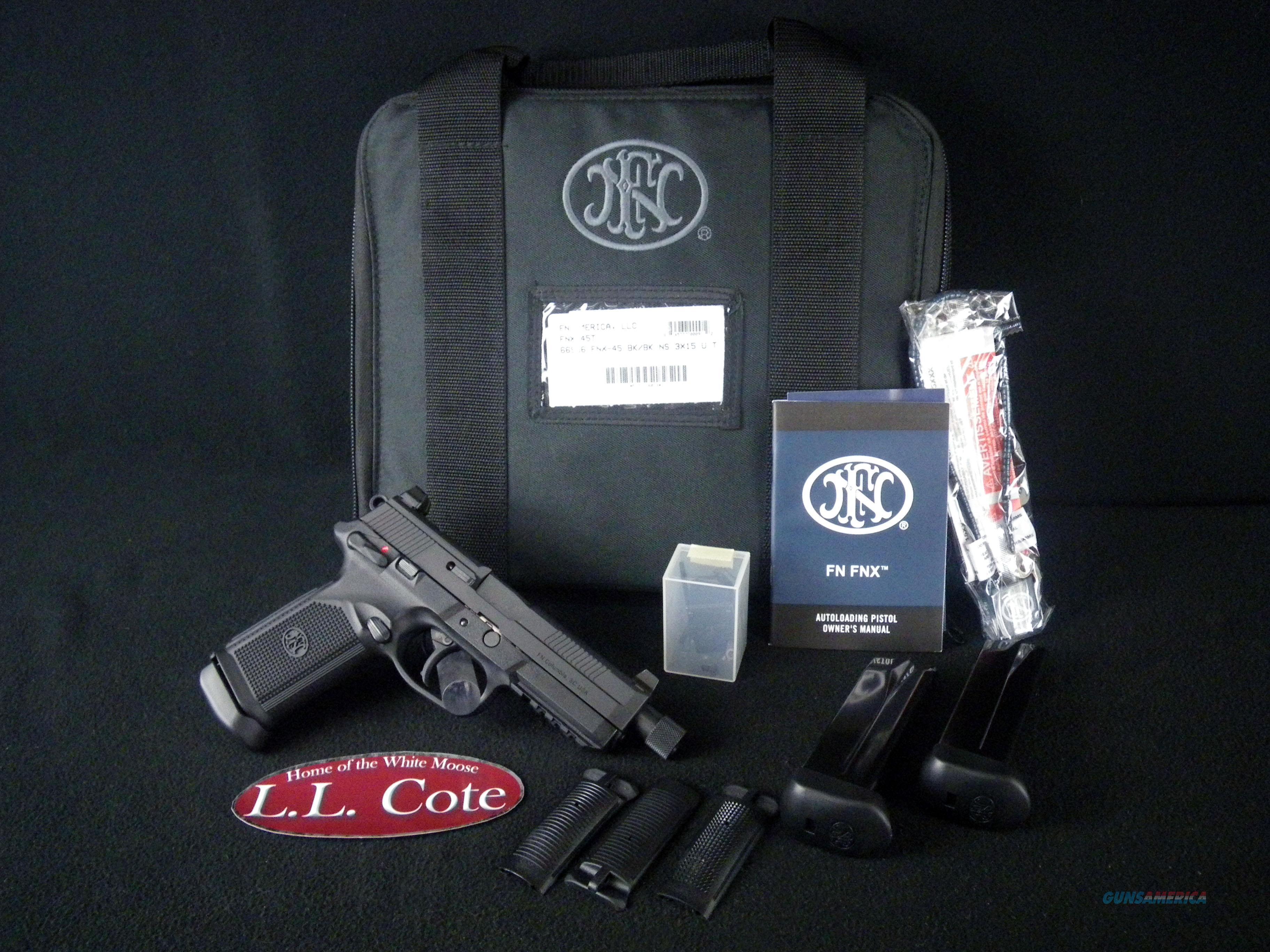 "FNH FNX-45 Tactical 45ACP 5.3"" NEW 66966  Guns > Pistols > FNH - Fabrique Nationale (FN) Pistols > FNX"
