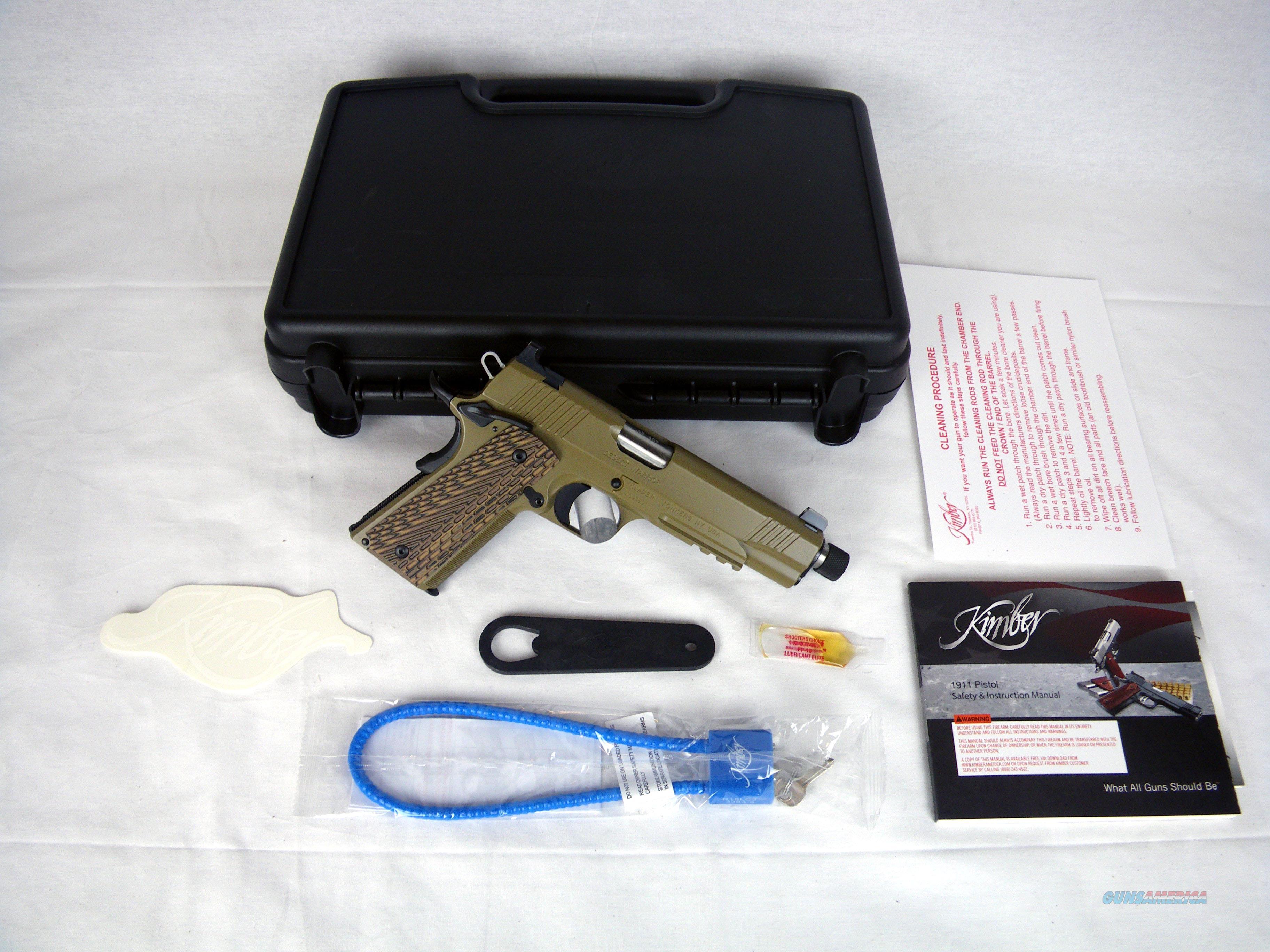 """Kimber Desert Warrior TFS 45ACP 5.5"""" Threaded NEW #3000237  Guns > Pistols > Kimber of America Pistols > 1911"""