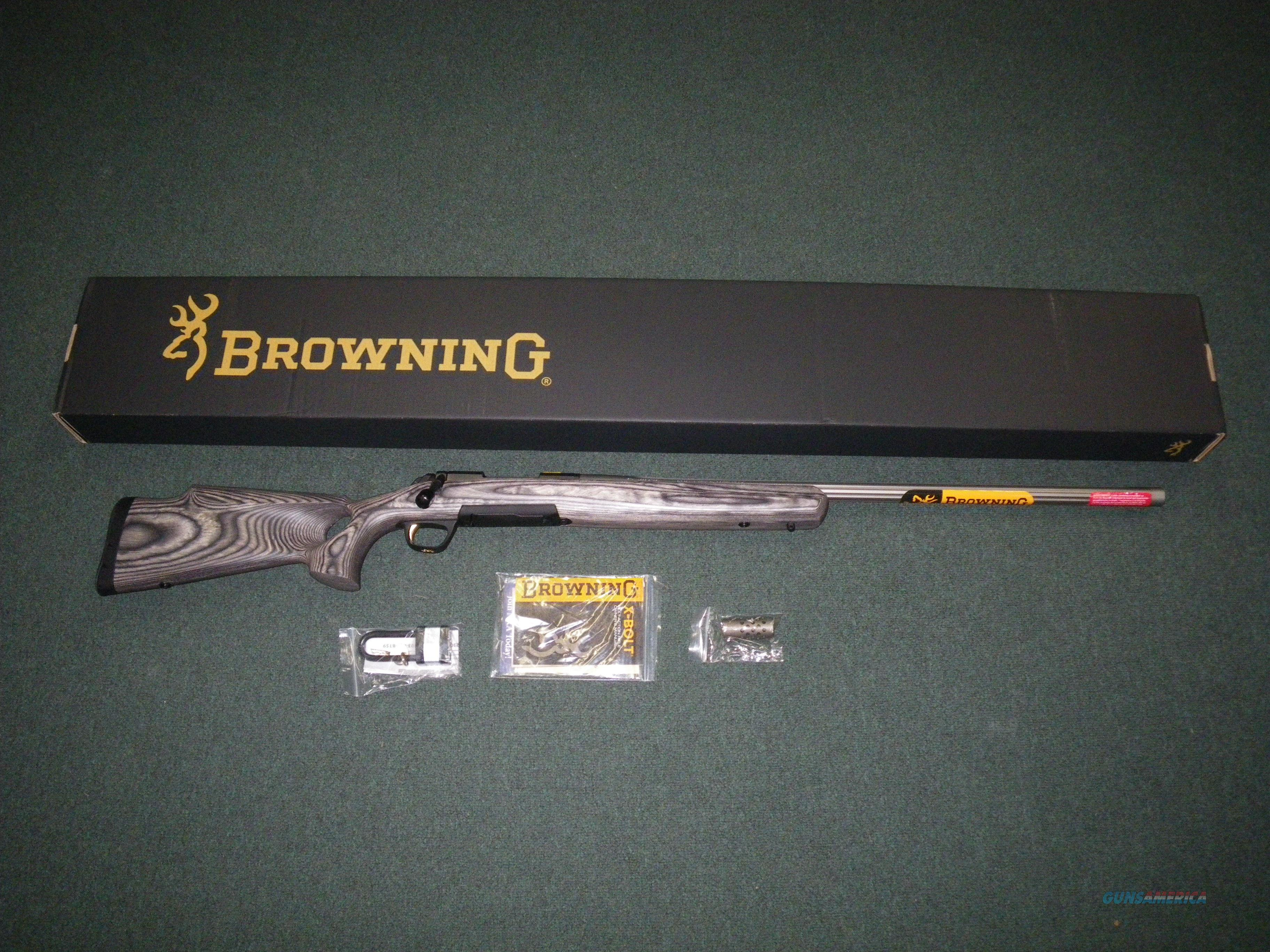 "Browning X-Bolt Eclipse Target Fluted 6.5 Creed 28"" 035428282  Guns > Rifles > Browning Rifles > Bolt Action > Hunting > Stainless"