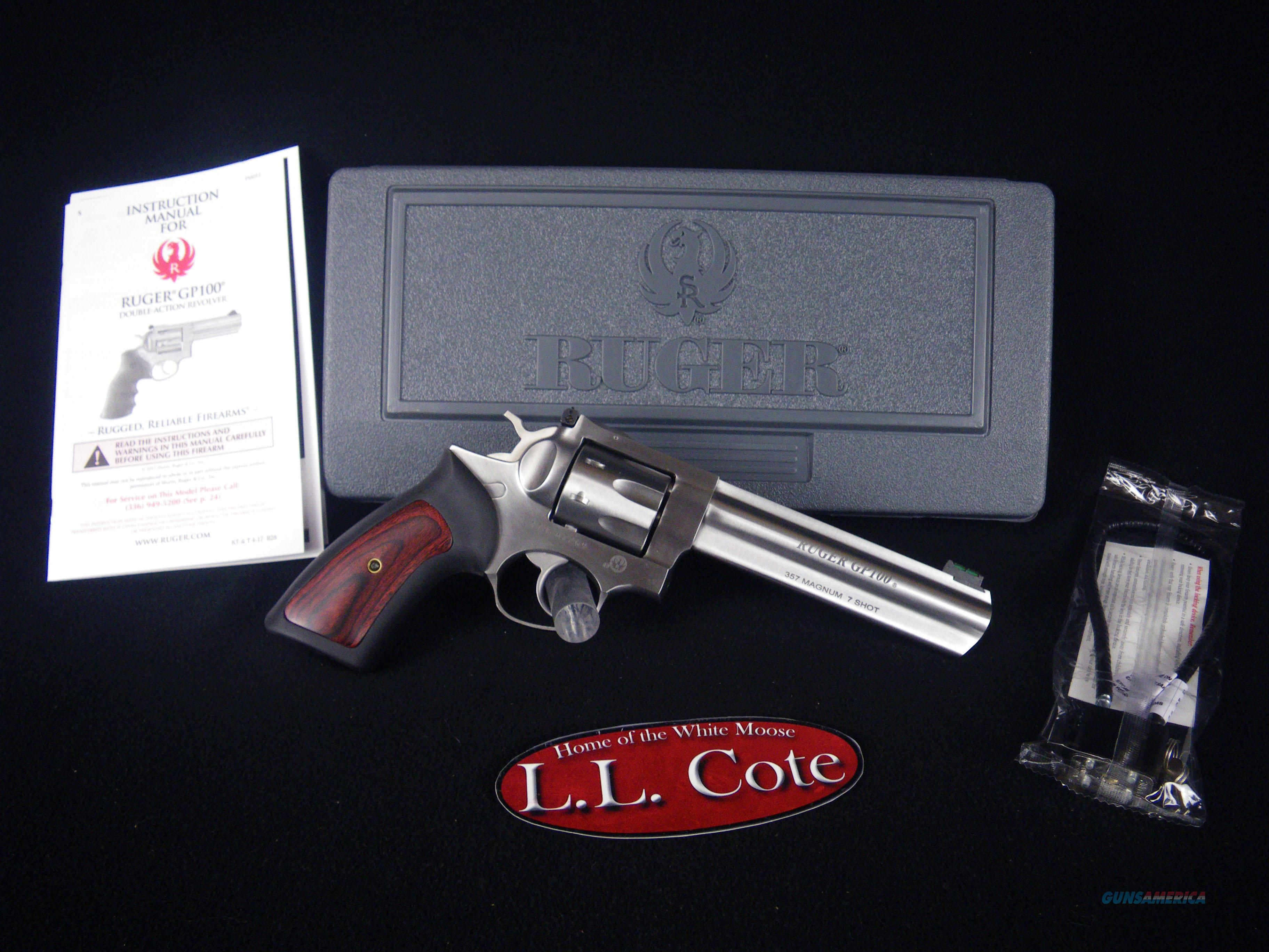 "Ruger GP100 357mag 6"" Stainless 7rnd NEW 1773  Guns > Pistols > Ruger Double Action Revolver > GP100"