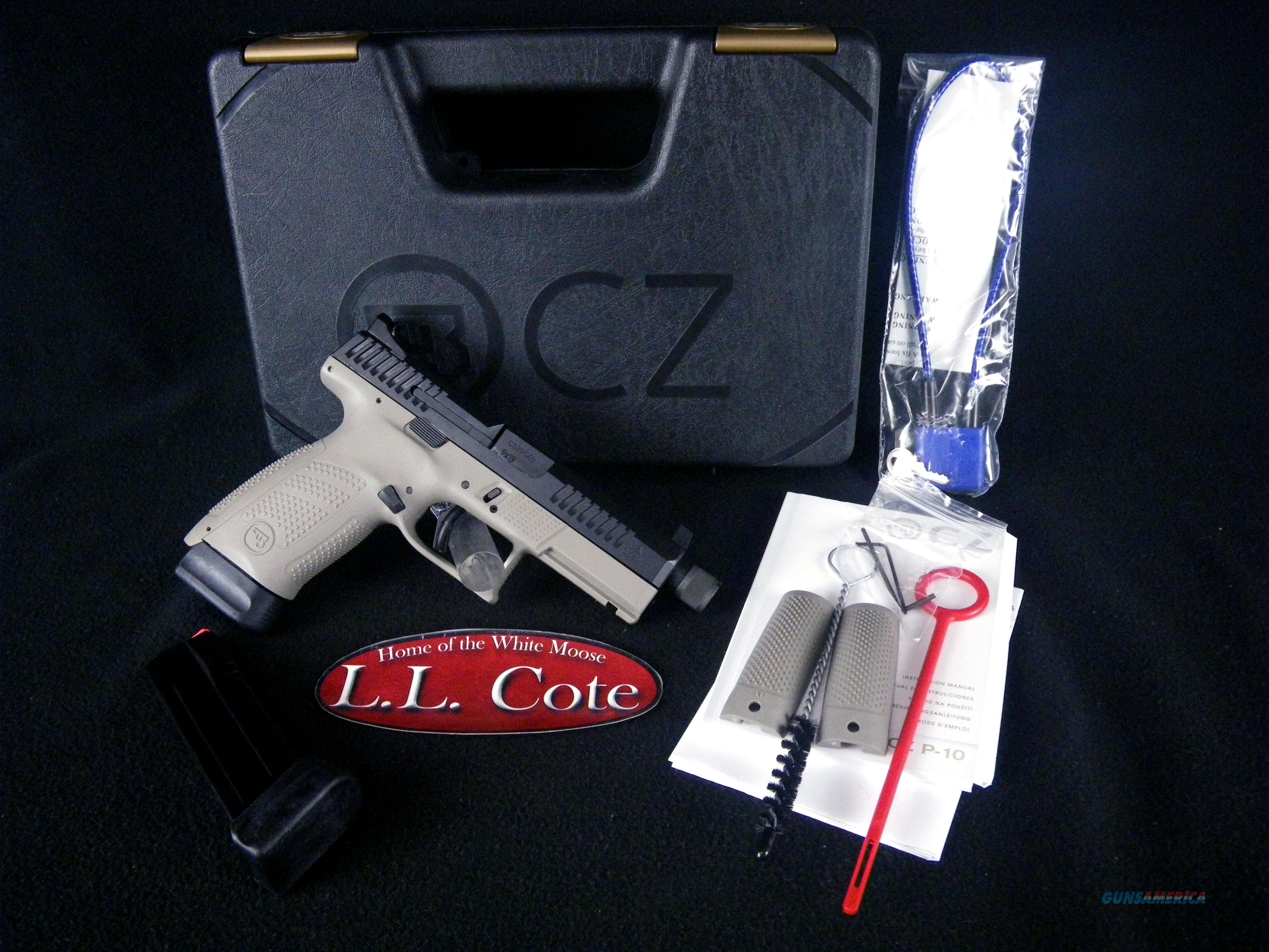 "CZ P-10 C Urban Grey Suppressor-Ready 9mm 4.61"" NEW 91519  Guns > Pistols > CZ Pistols"
