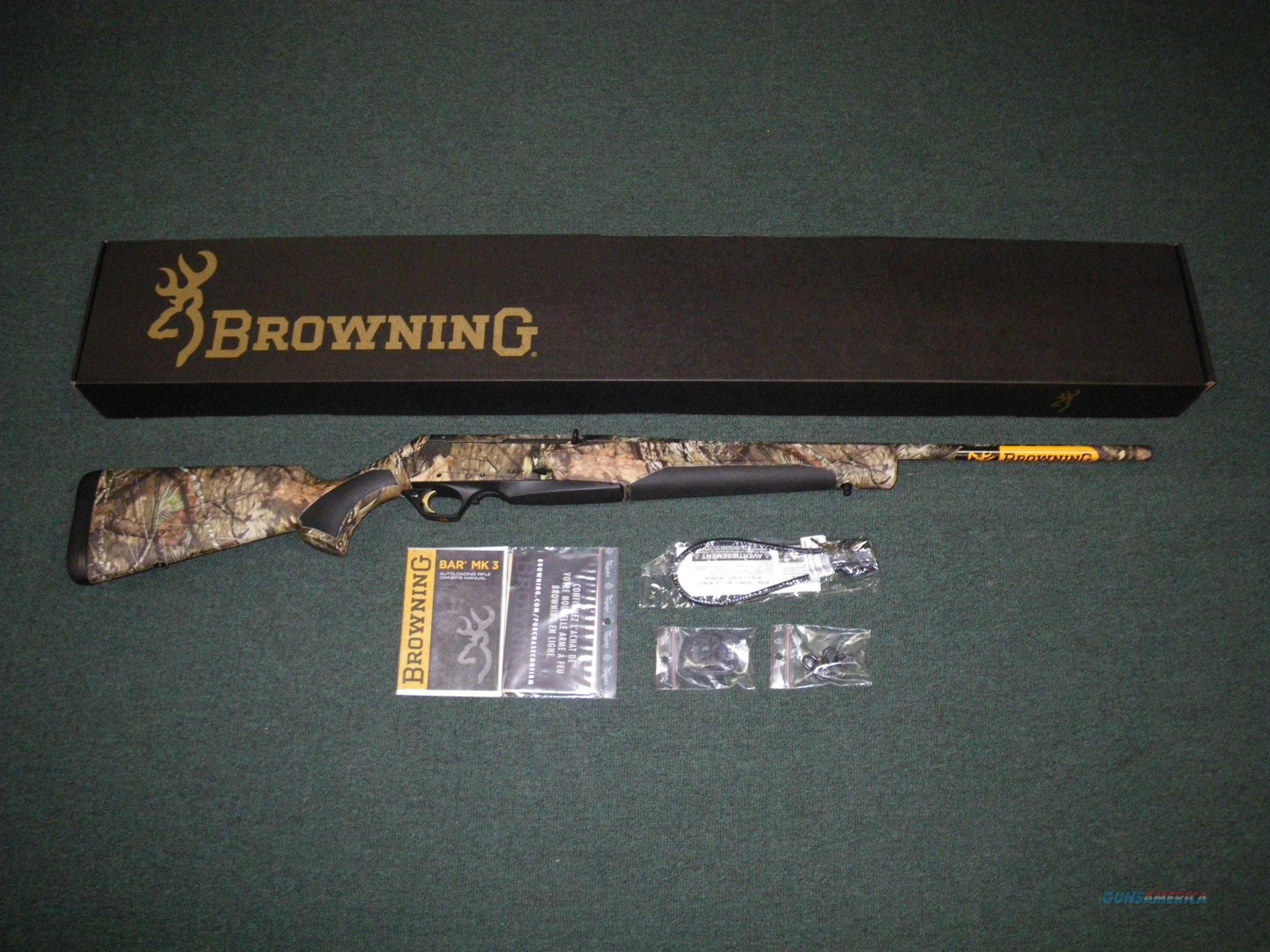 "Browning BAR MK3 MOBU Country 243 Winchester 22"" NEW 031049211  Guns > Rifles > Browning Rifles > Semi Auto > Hunting"