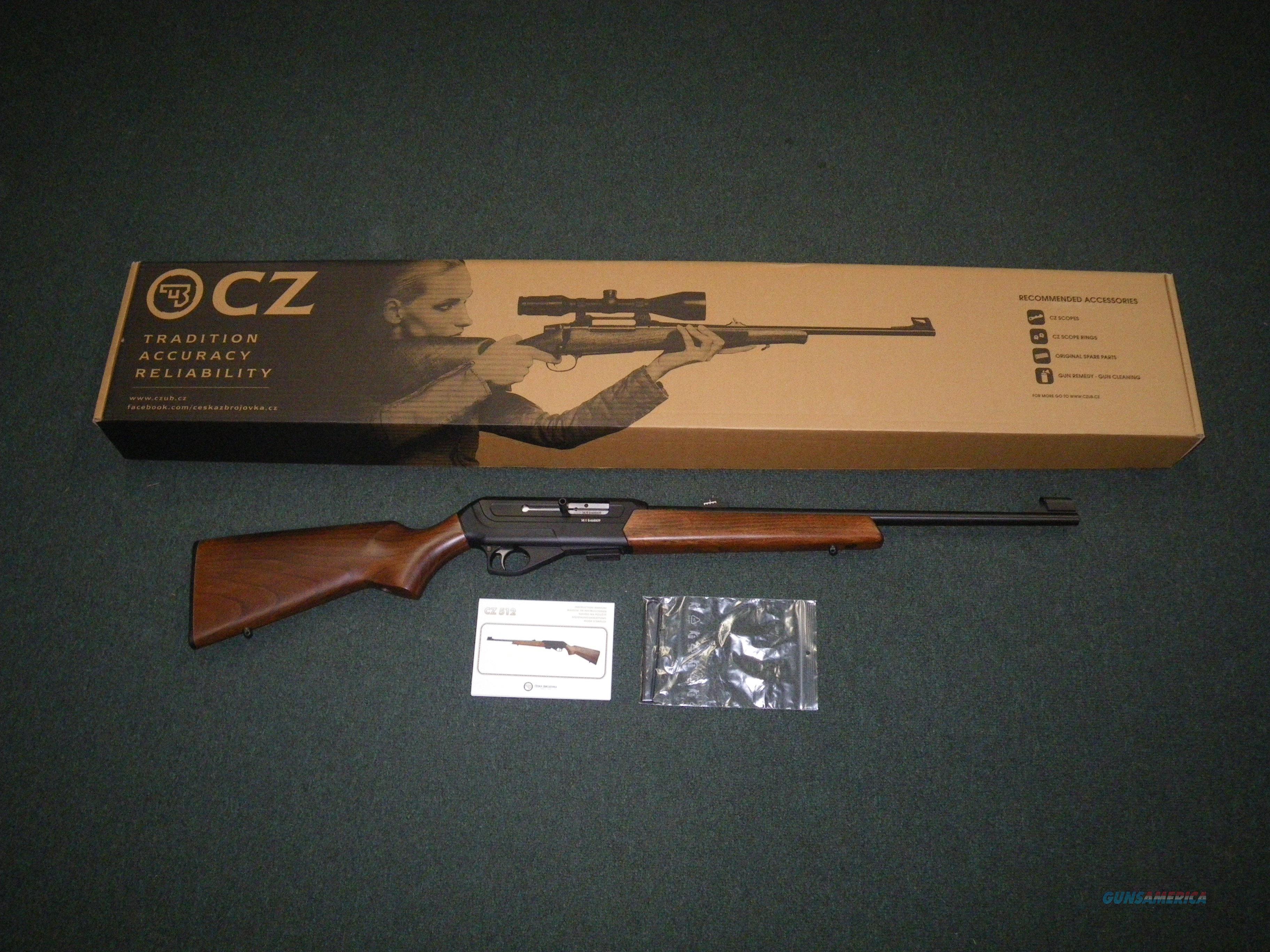 """CZ 512 Semi-Automatic 22lr 20.5"""" NEW 02160  Guns > Rifles > CZ Rifles"""
