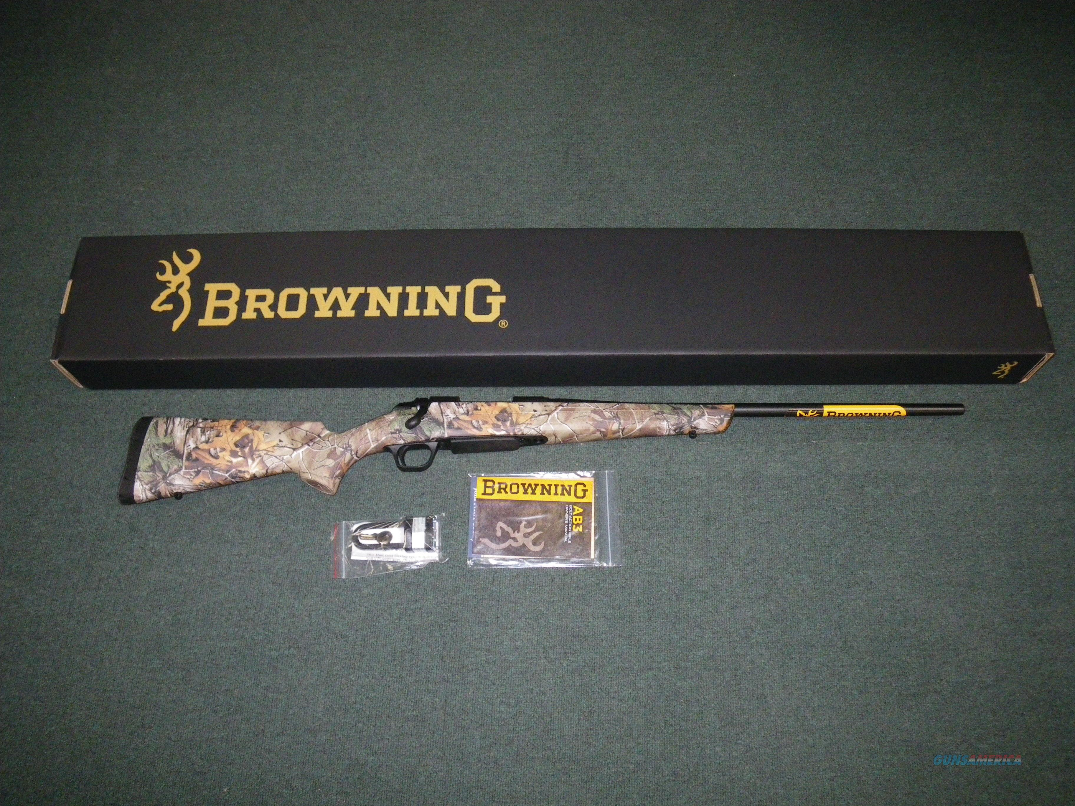 "Browning AB3 A-Bolt Realtree Xtra 7mm-08 Rem 22"" NEW #035809216  Guns > Rifles > Browning Rifles > Bolt Action > Hunting > Blue"