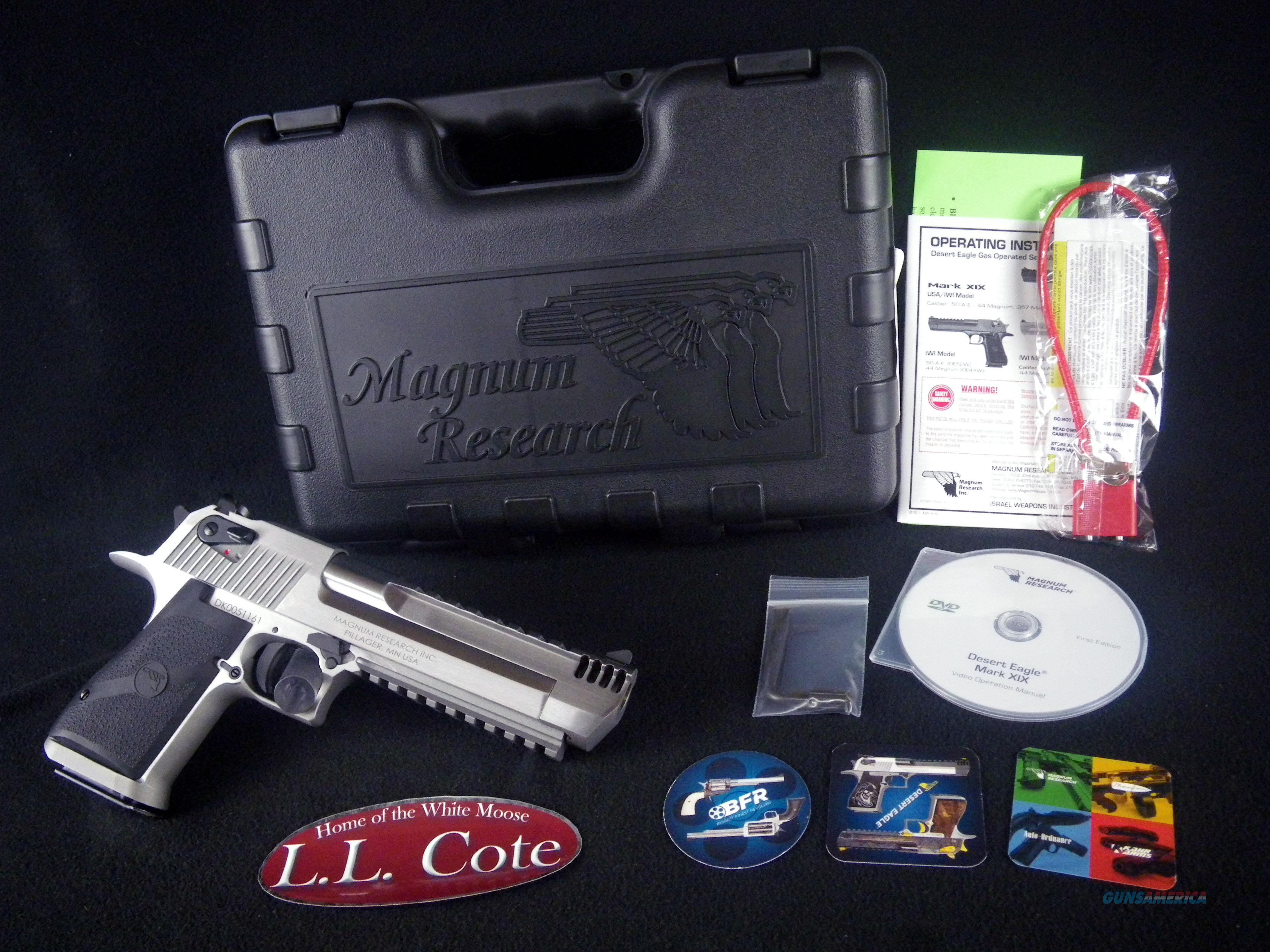 "Magnum Research Desert Eagle MK XIX SS 50AE 6"" NEW DE50SRMB  Guns > Pistols > Magnum Research Pistols"