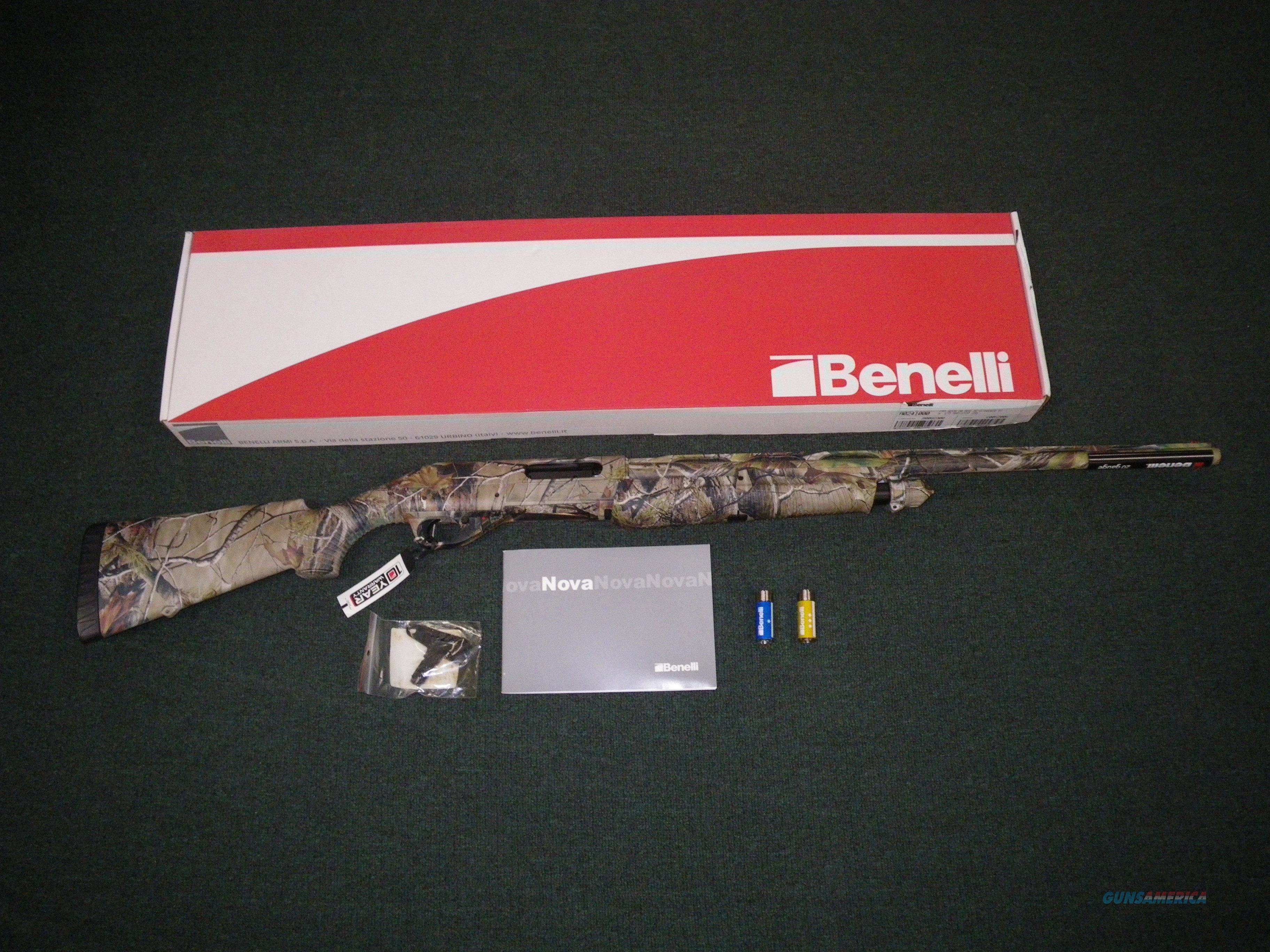 "Benelli Nova Pump Field Realtree APG 12ga 26"" NEW #20078  Guns > Shotguns > Benelli Shotguns > Sporting"