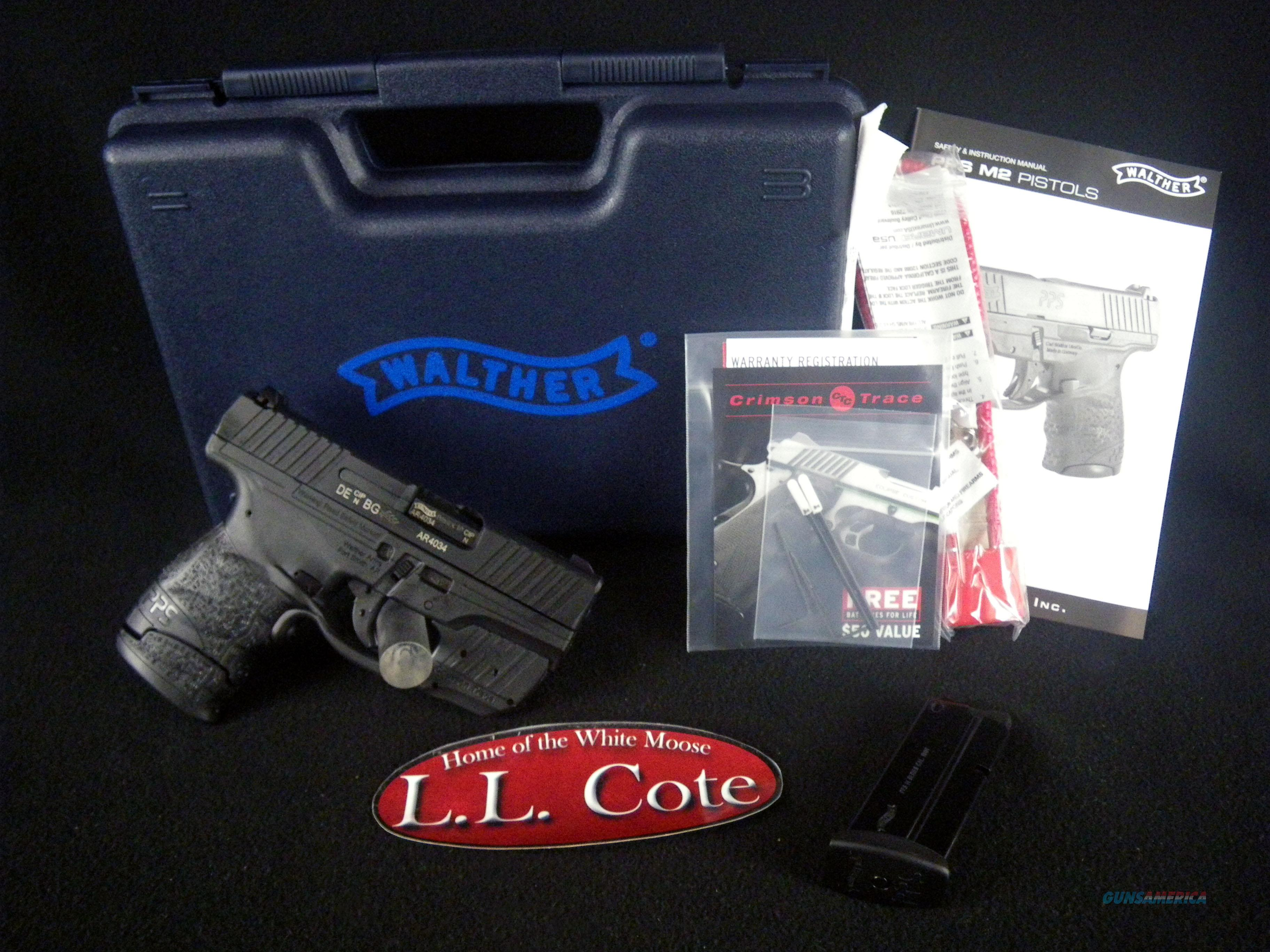 """Walther PPS M2 Black W/Laser 9mm 3.18"""" NEW 2805963  Guns > Pistols > Walther Pistols > Post WWII > PPS"""