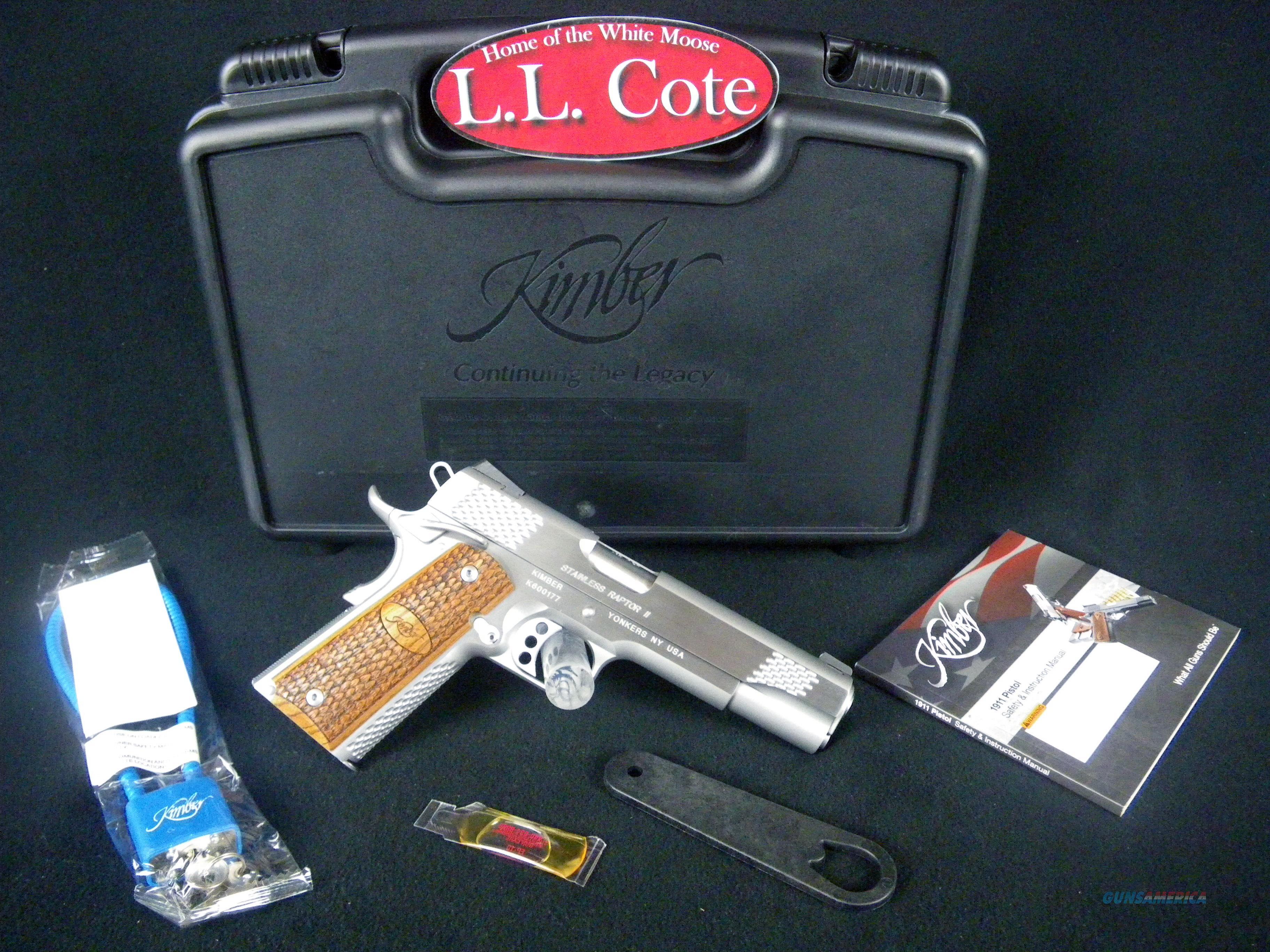 "Kimber Stainless Raptor II 45ACP 5"" NEW #3200181  Guns > Pistols > Kimber of America Pistols > 1911"