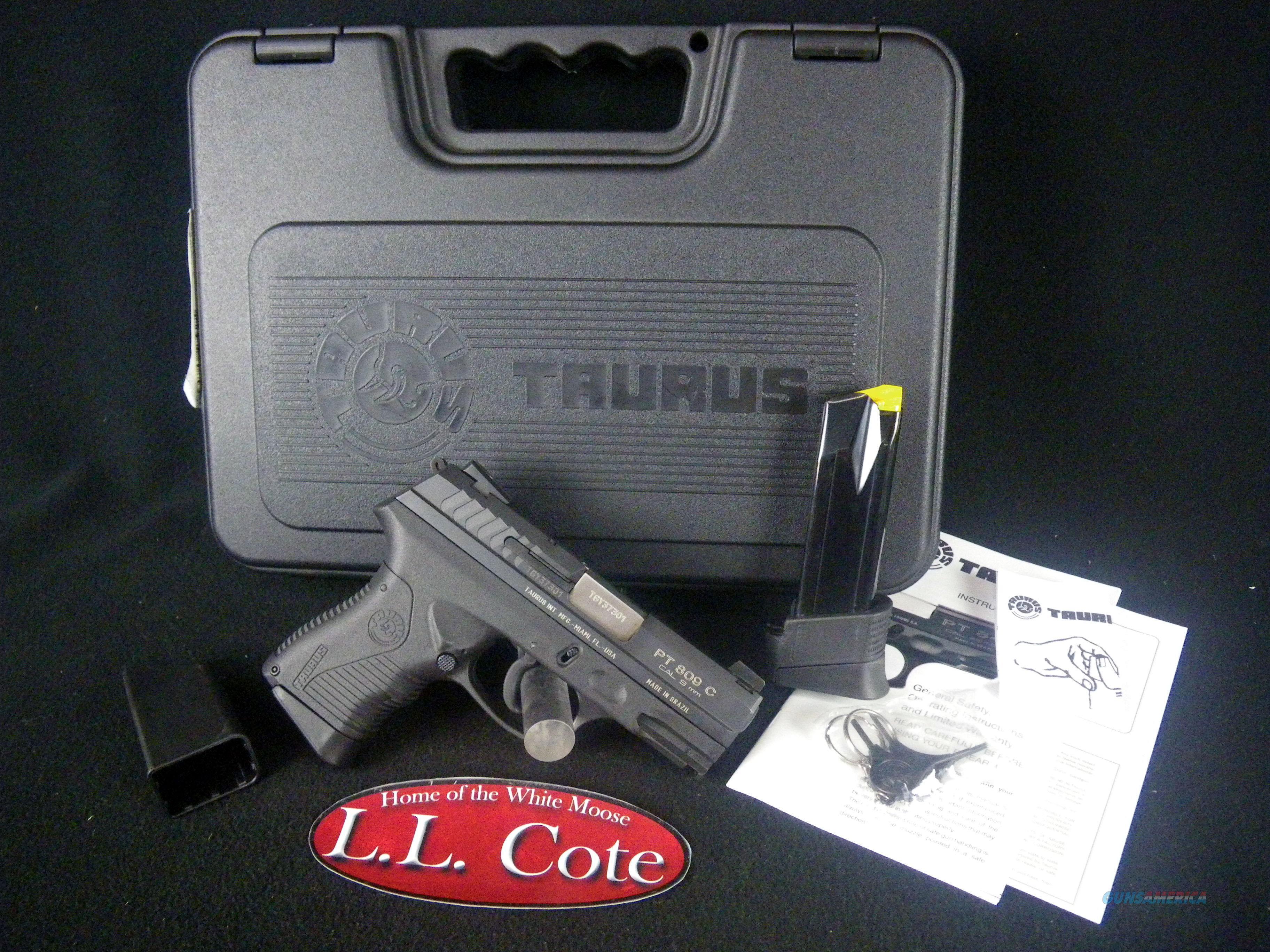 "Taurus PT809C 9mm 3.5"" Blued NEW 1-809041C  Guns > Pistols > Taurus Pistols > Semi Auto Pistols > Polymer Frame"
