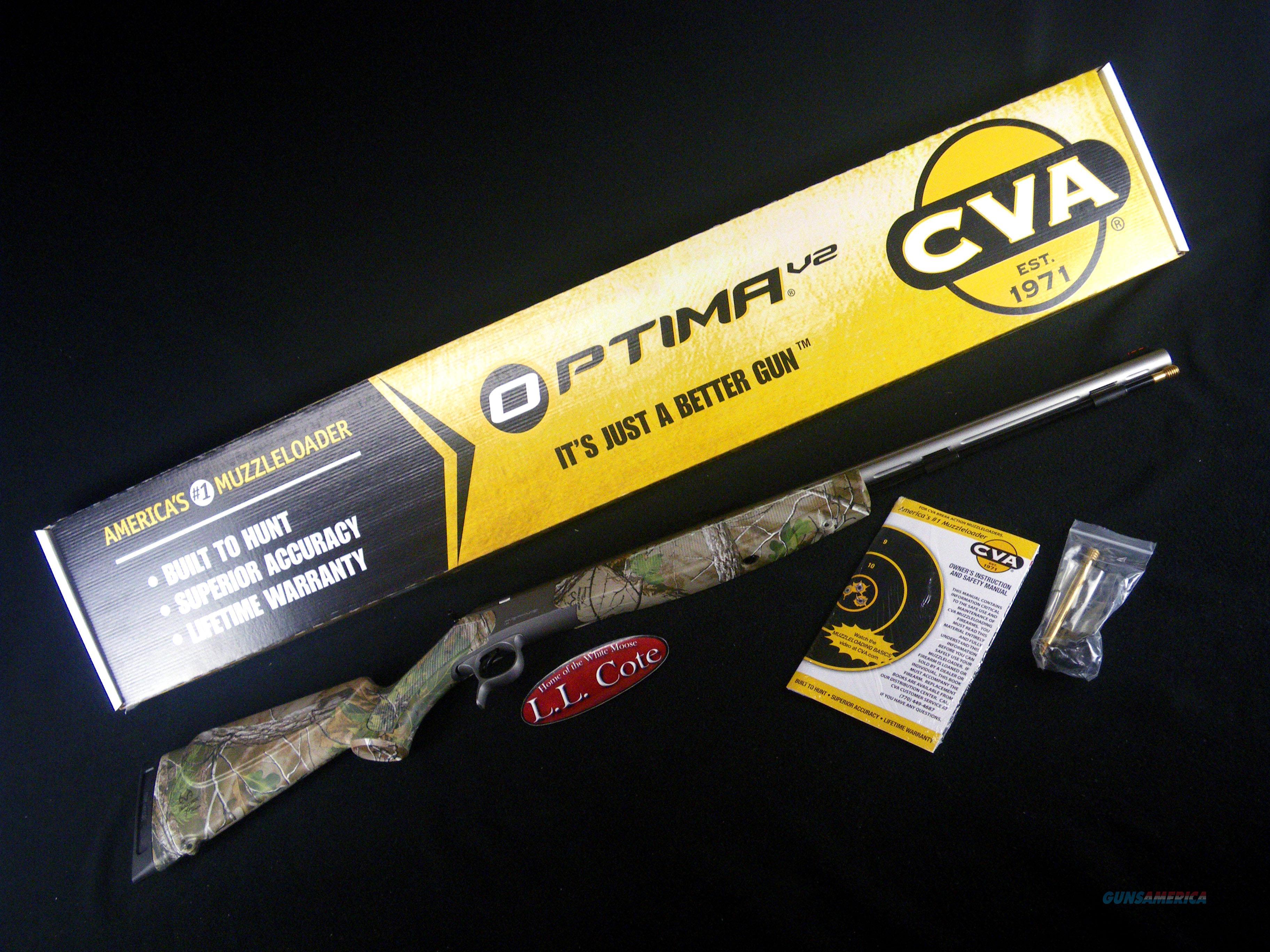 "CVA Optima V2 Realtree Stainless 50cal 26"" PR2022S  Guns > Rifles > Connecticut  Valley Arms (CVA) Rifles > Modern Muzzleloaders"