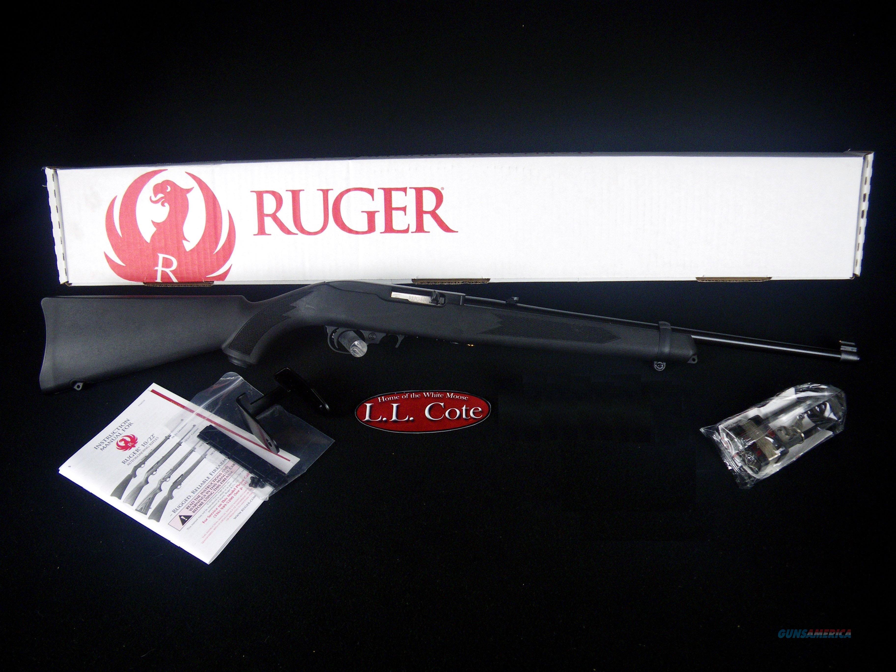 """Ruger 10/22 Carbine 22lr 18.5"""" Black/Syn NEW 1151  Guns > Rifles > Ruger Rifles > 10-22"""