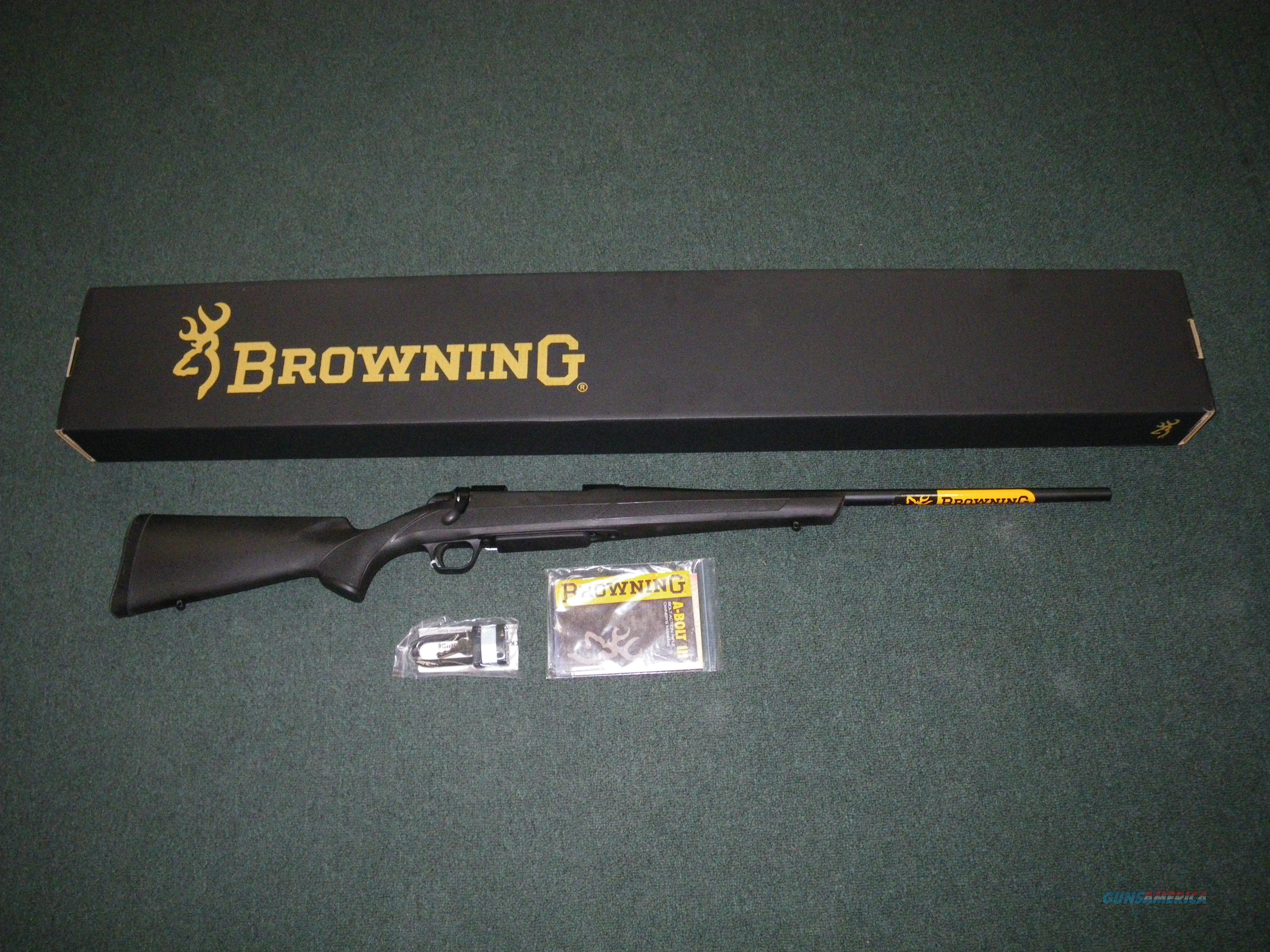 "Browning A-bolt III AB3 22"" 7mm-08 Remington New! #035800216  Guns > Rifles > Browning Rifles > Bolt Action > Hunting > Blue"