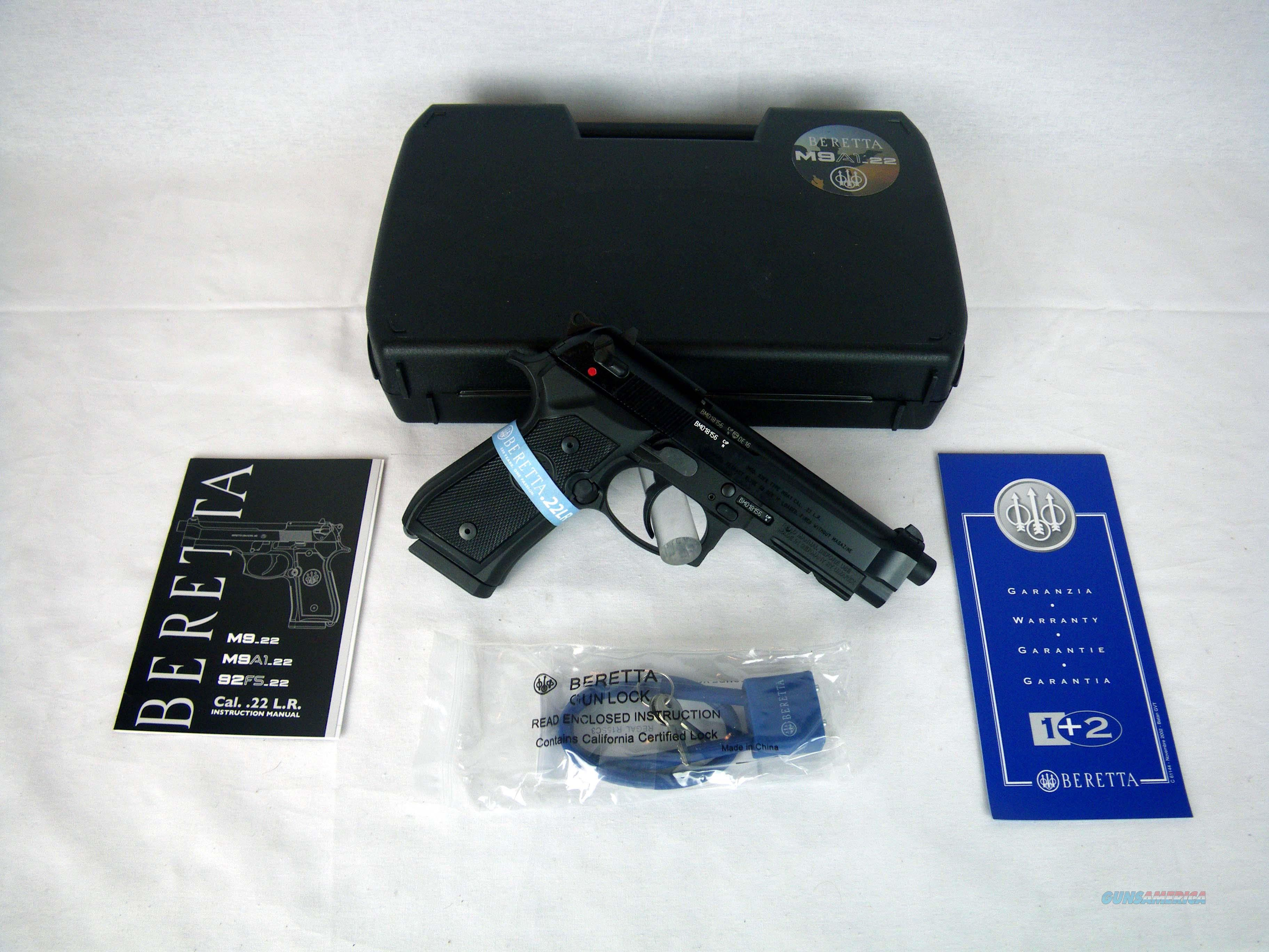 "Beretta M9A1-22 22lr 4.9"" Black/Synthetic NEW J90A1M9A1F19  Guns > Pistols > Beretta Pistols > M9"