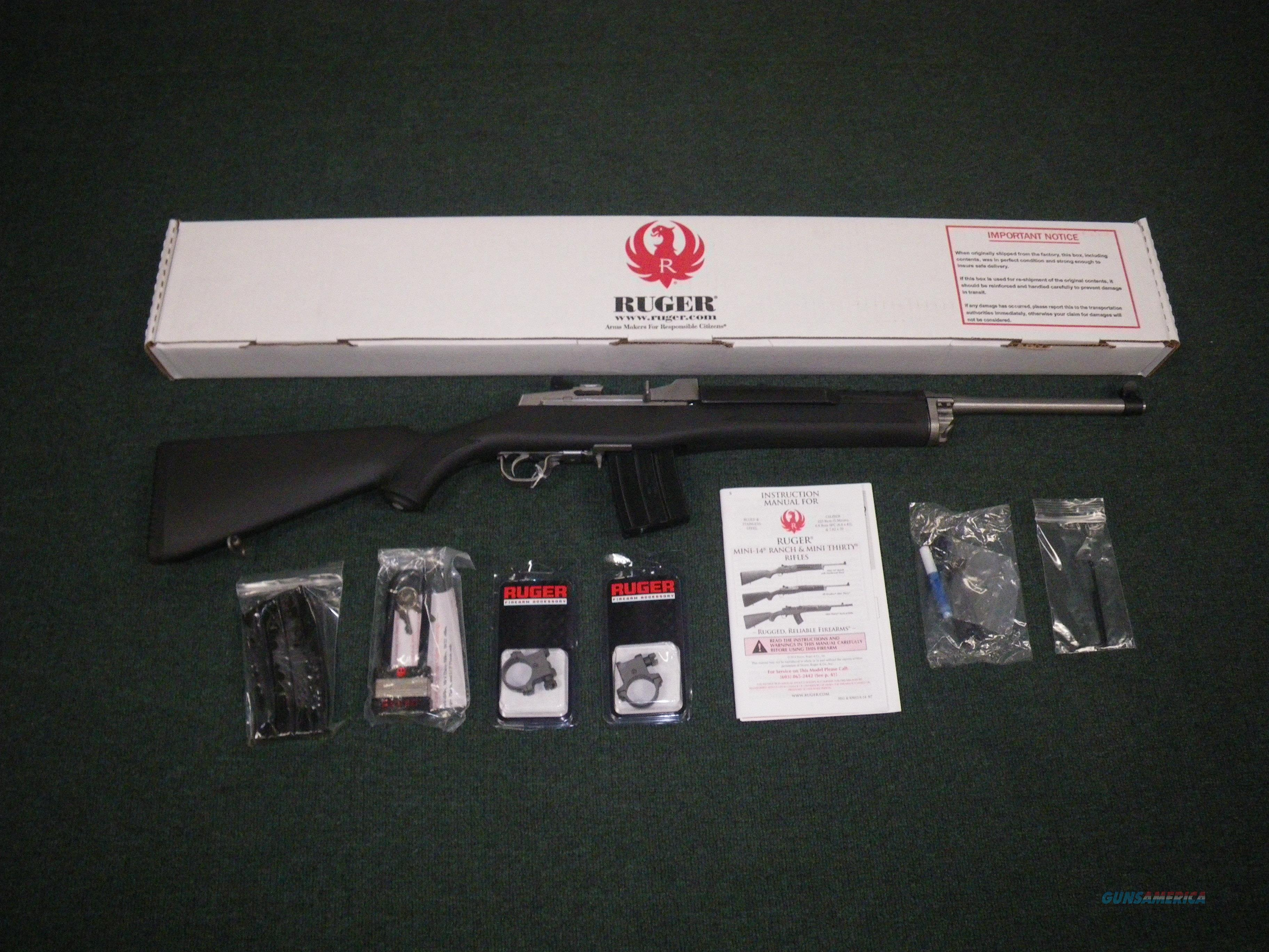 "Ruger Mini-14 Ranch Rifle Stainless 5.56/223 18.5"" #5817  Guns > Rifles > Ruger Rifles > Mini-14 Type"