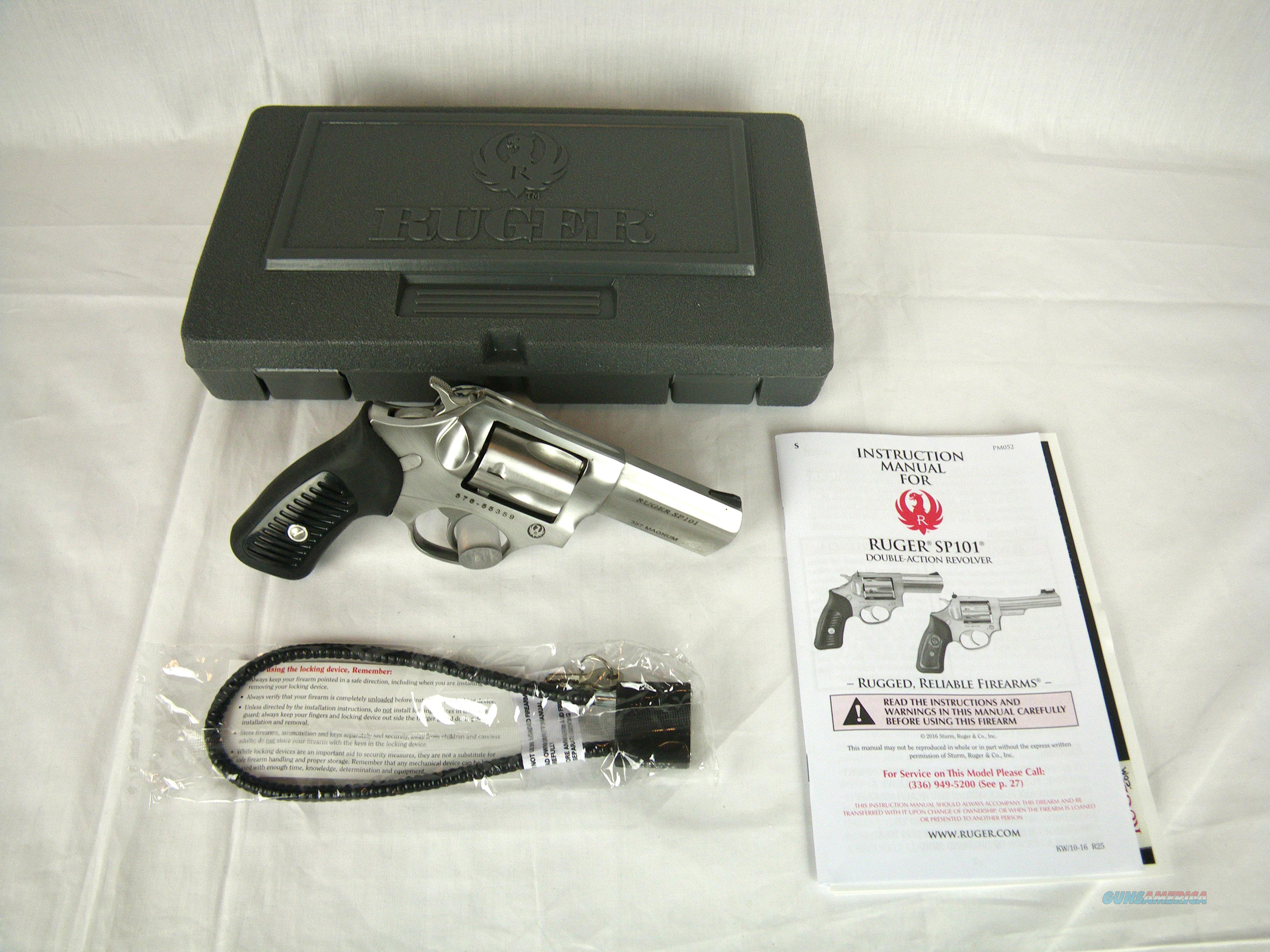 """Ruger SP101 Revolver SS 357 Mag 3"""" NEW #5719  Guns > Pistols > Ruger Double Action Revolver > SP101 Type"""