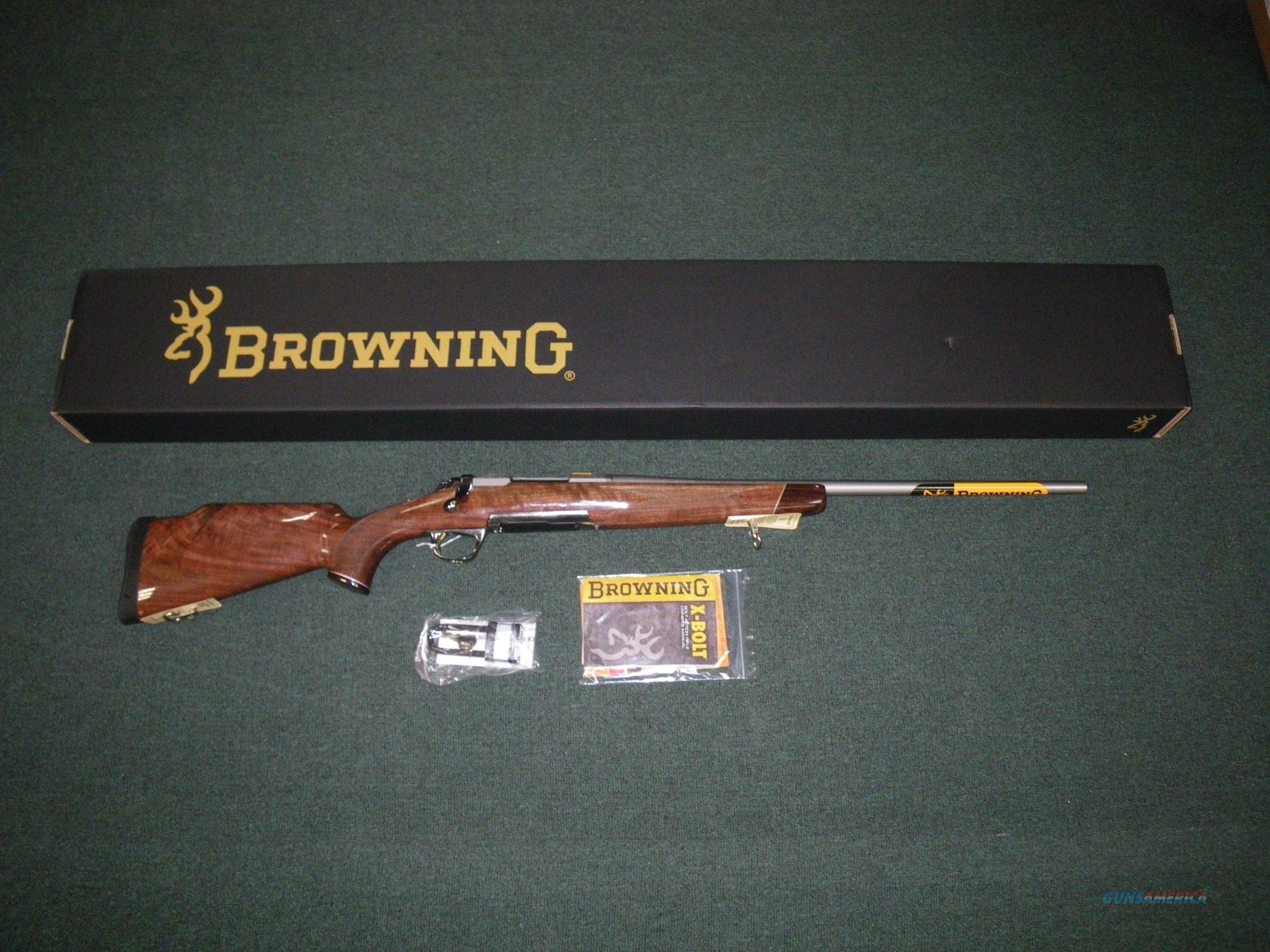 "Browning X-Bolt White Gold Medallion 280 Rem 22"" #035235225  Guns > Rifles > Browning Rifles > Bolt Action > Hunting > Stainless"