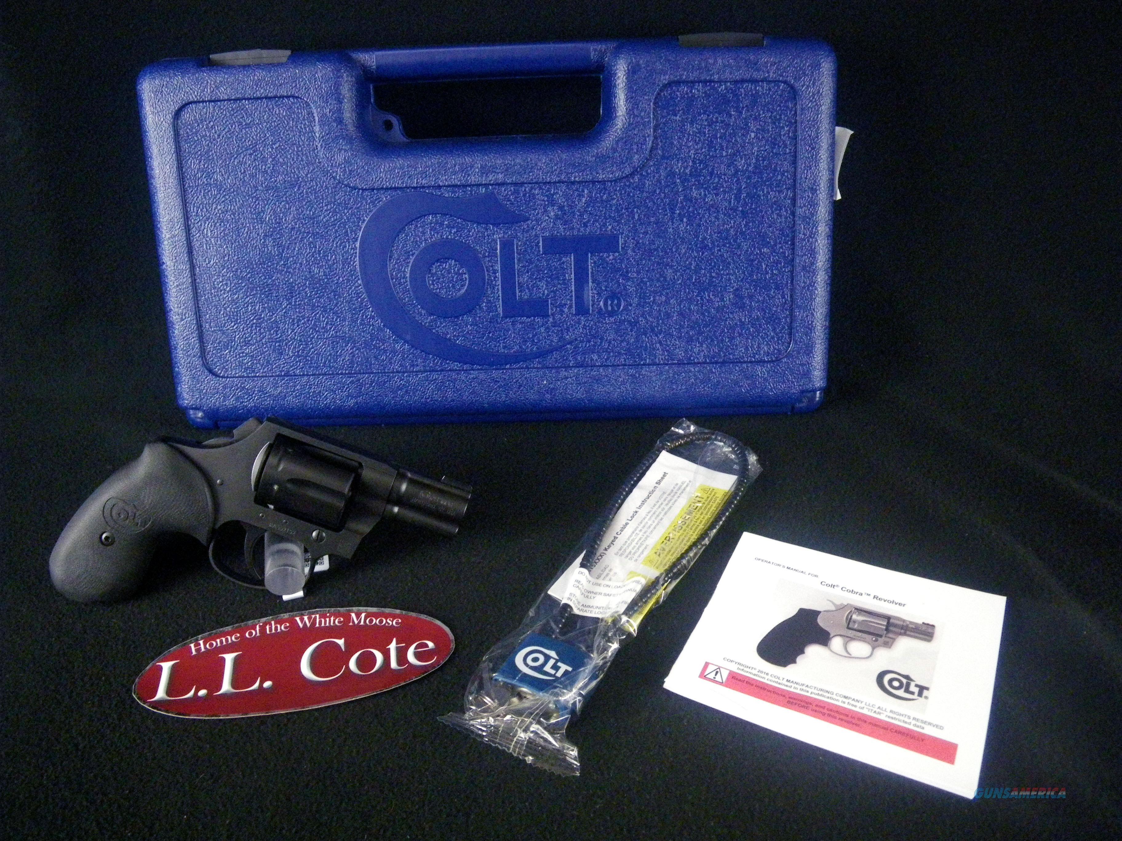 "Colt Night Cobra 38 Spl 2.1"" Matte Black NEW MB2NS  Guns > Pistols > Colt Double Action Revolvers- Modern"