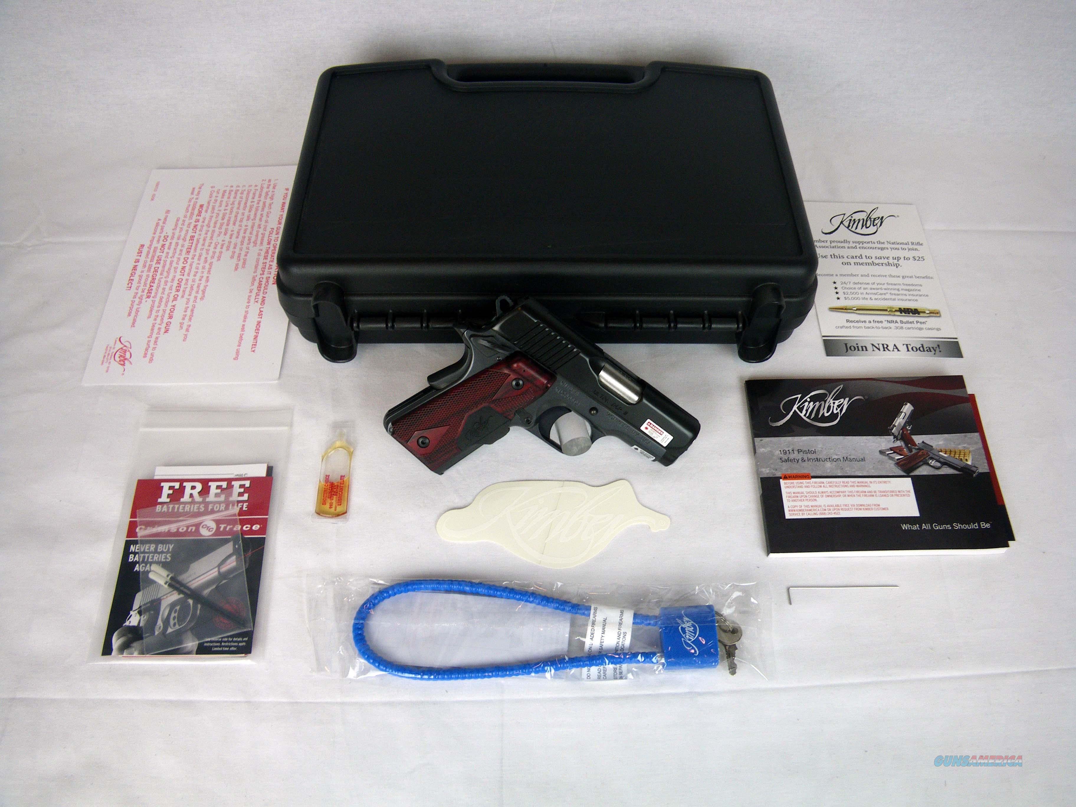 "Kimber Ultra RCP II 45ACP 3"" Lasergrip NEW 3200302  Guns > Pistols > Kimber of America Pistols > 1911"