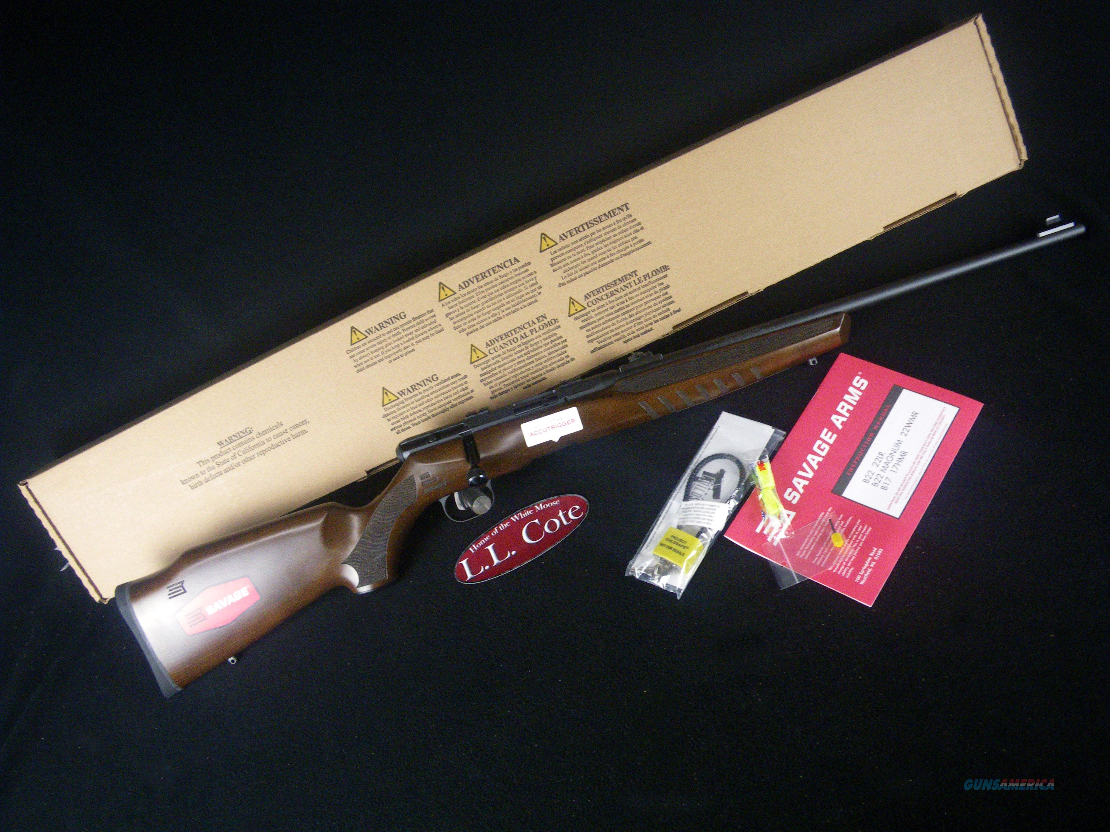 "Savage B22 G Hardwood 22lr 21"" NEW 70210  Guns > Rifles > Savage Rifles > Standard Bolt Action > Sporting"