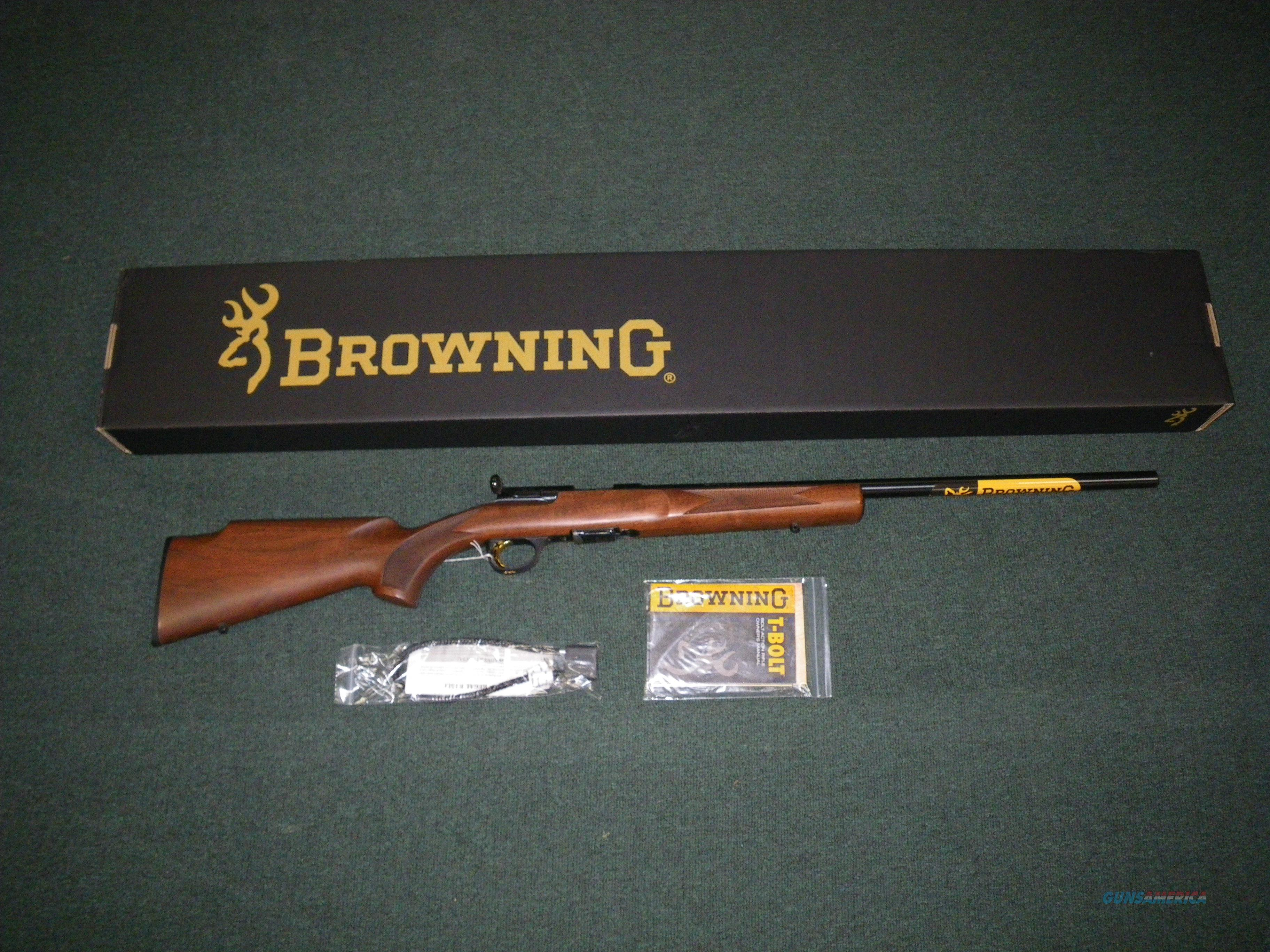 "Browning T-Bolt Target/Varmint Wood 22lr 22"" #025176202  Guns > Rifles > Browning Rifles > Bolt Action > Hunting > Blue"