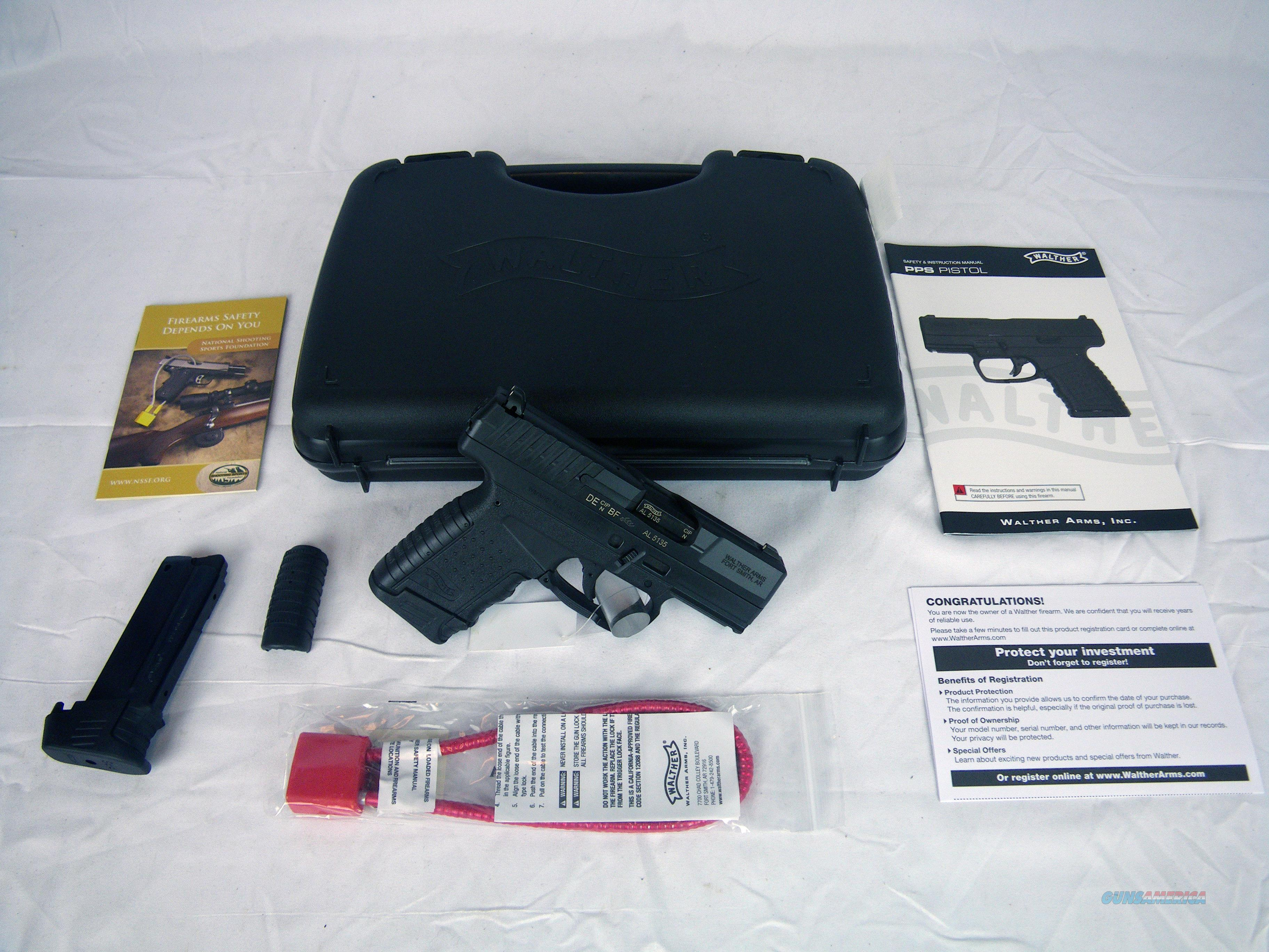 "Walther PPS 9mm 3.2"" Black NEW 7/8-Round #2796333  Guns > Pistols > Walther Pistols > Post WWII > PPS"
