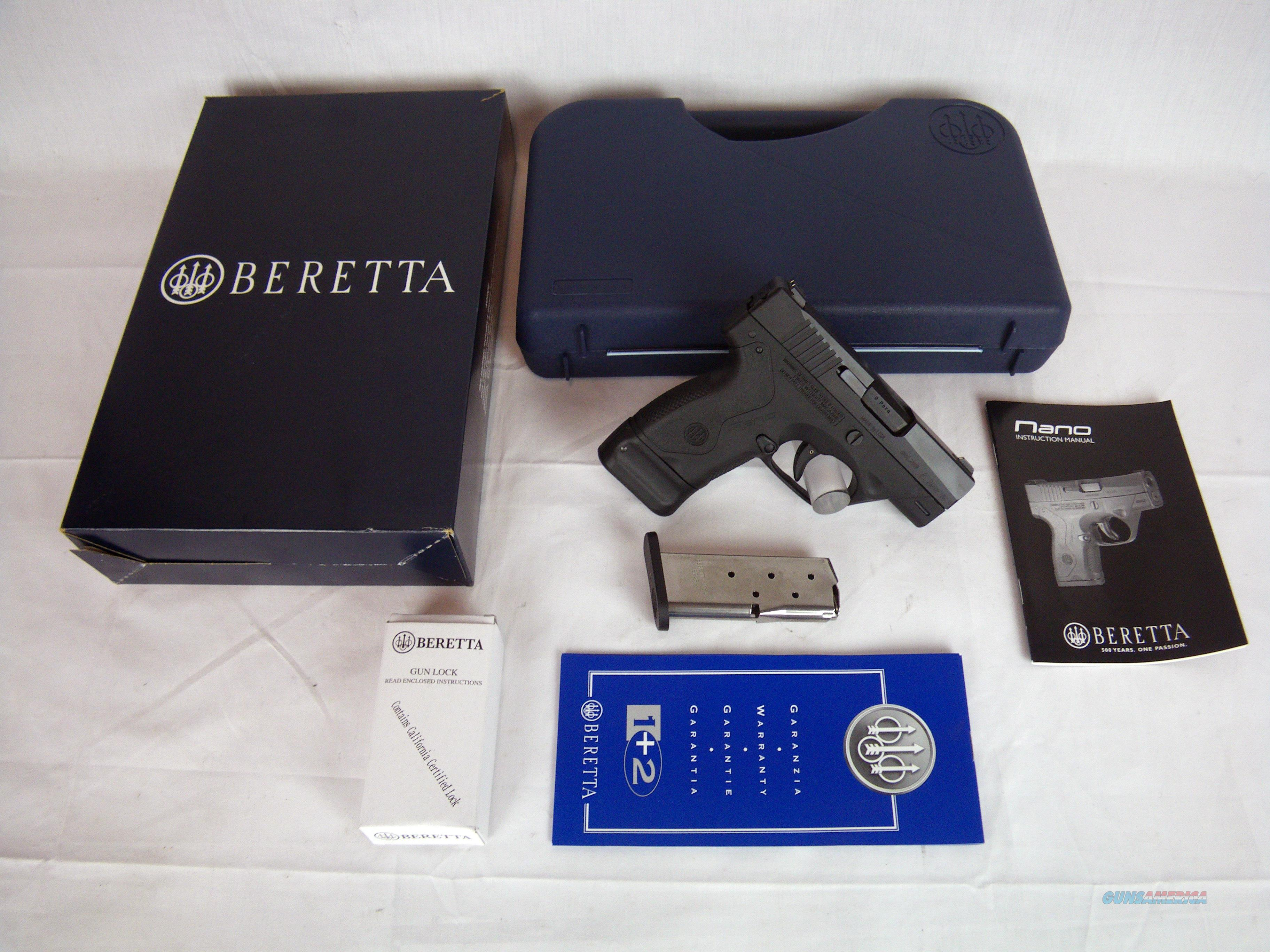 "Beretta Nano 9mm 3"" NEW Black/Synthetic #JMN9S15  Guns > Pistols > Beretta Pistols > Polymer Frame"