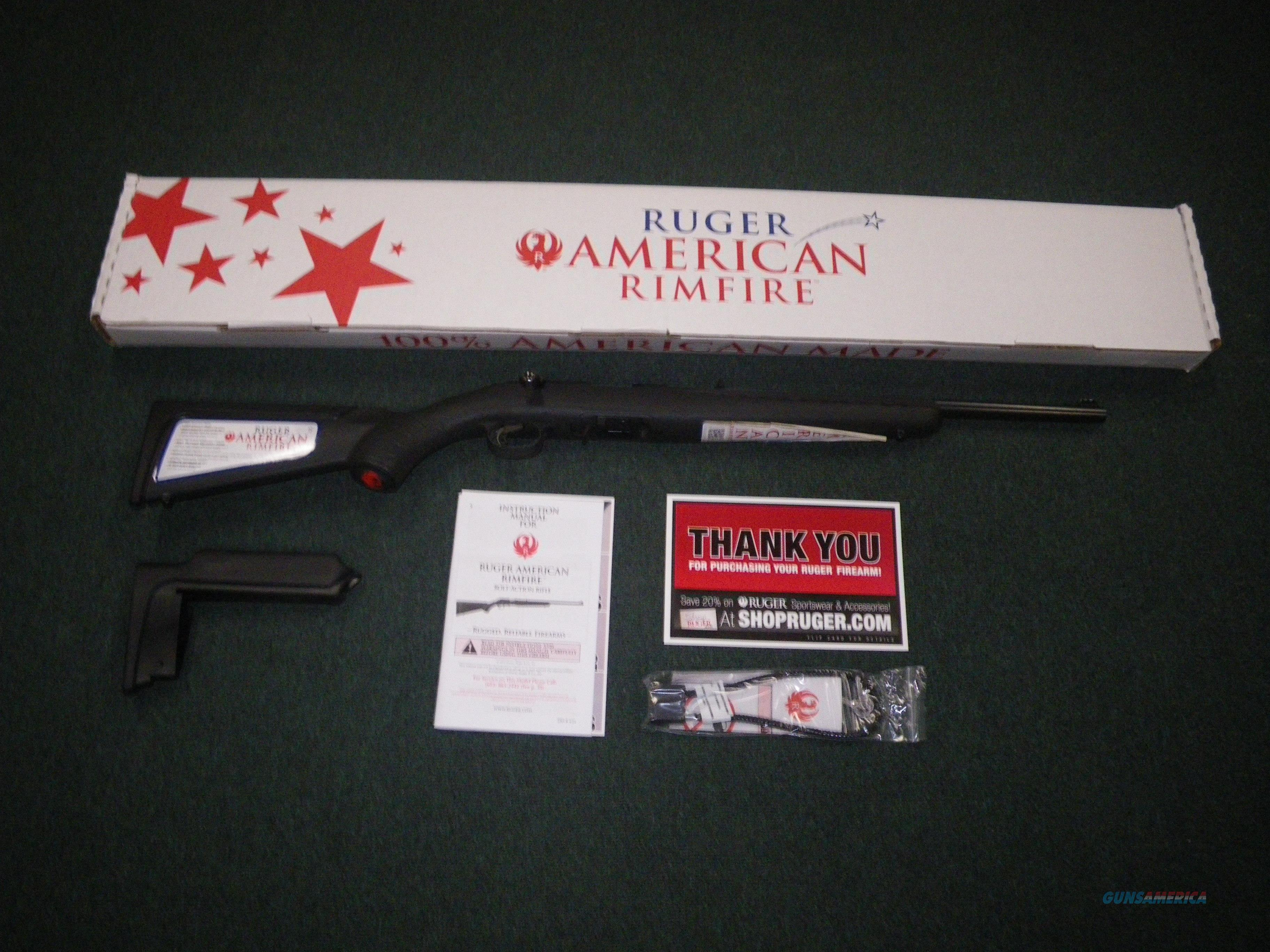 "Ruger American Rimfire Compact 22 Mag 18"" NEW #8323  Guns > Rifles > Ruger Rifles > American Rifle"