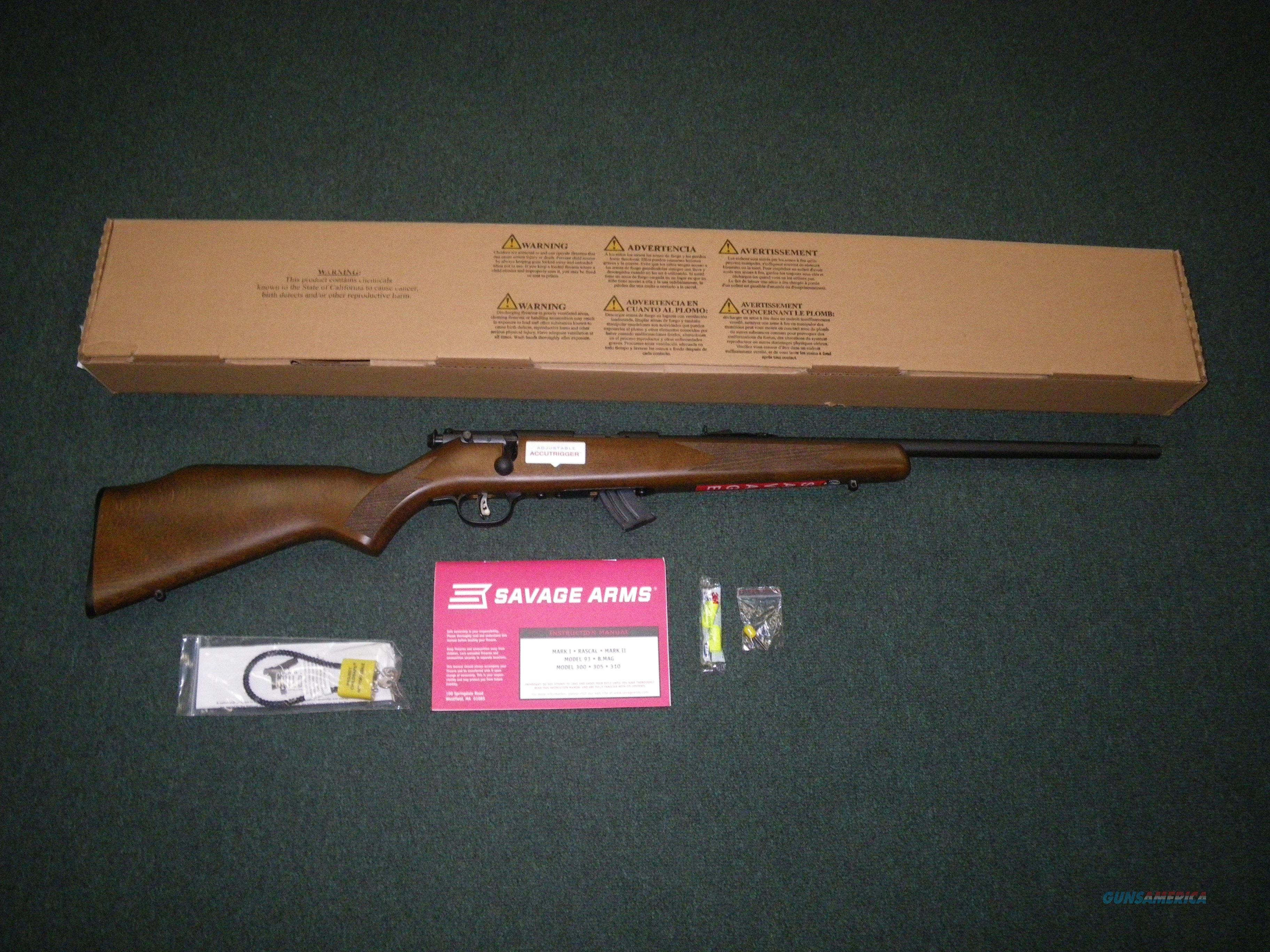 "Savage Mark II G 22lr 21"" NEW Accutrigger #20700  Guns > Rifles > Savage Rifles > Rimfire"