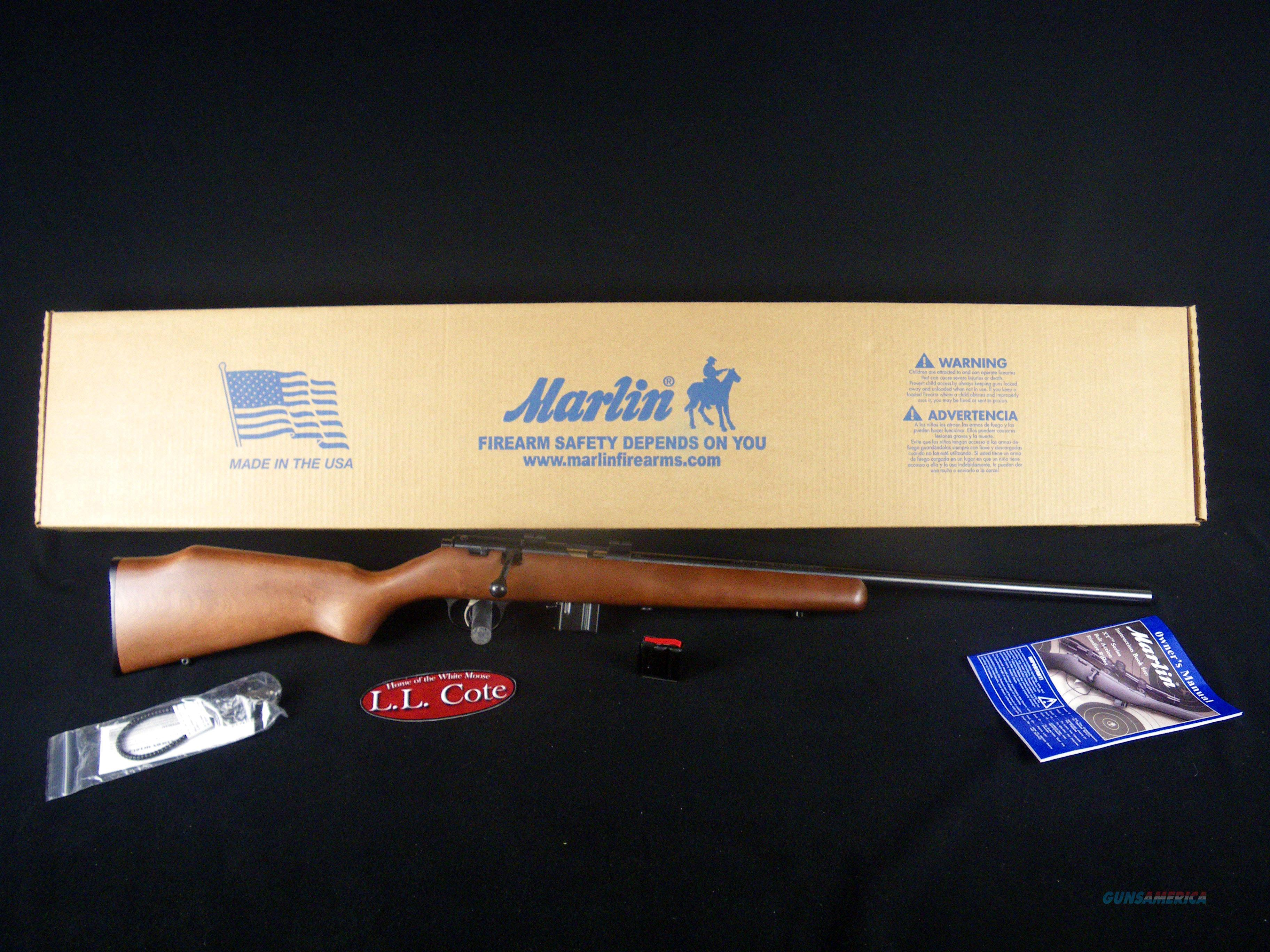 "Marlin XT-17V 17hmr 22"" Wood/Blue NEW 70712  Guns > Rifles > Marlin Rifles > Modern > Bolt/Pump"