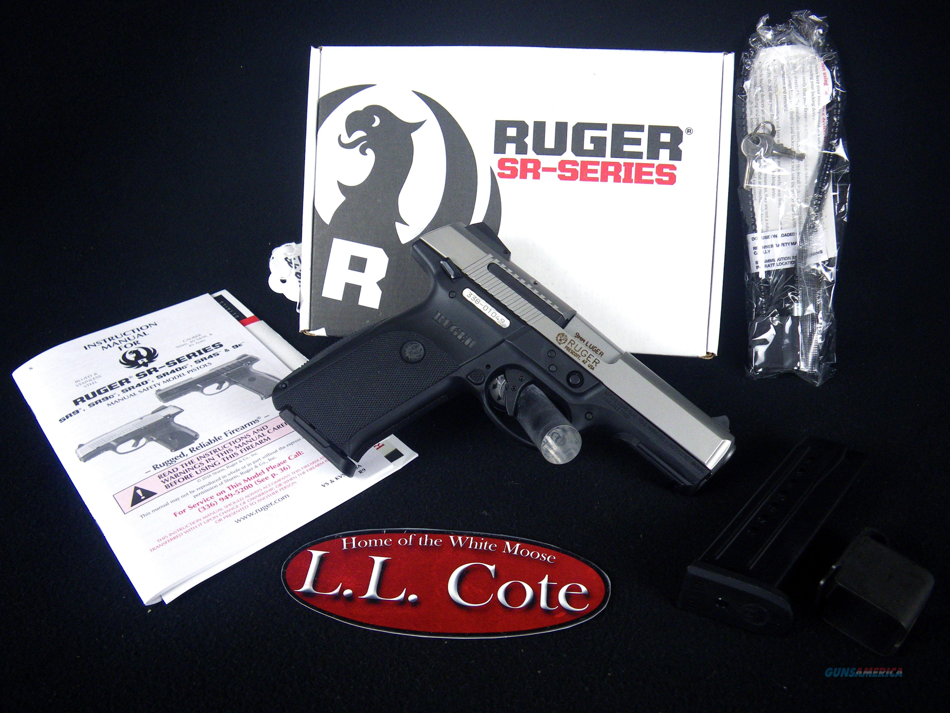 "Ruger SR9 9mm 4.14"" Stainless/Synthetic NEW 3301  Guns > Pistols > Ruger Semi-Auto Pistols > SR Family > SR9"