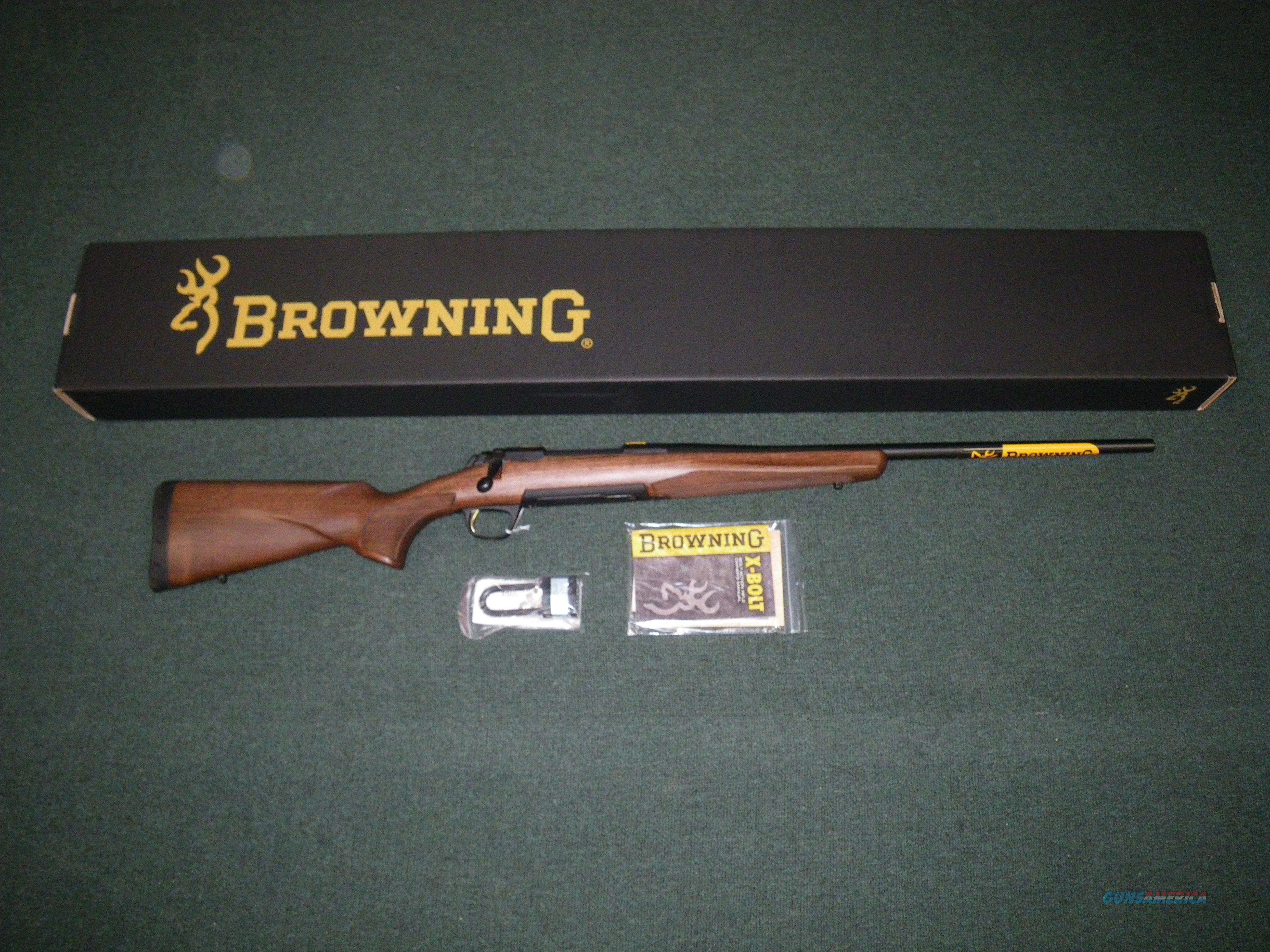 "Browning X-Bolt Hunter Blue/Wood 6.5 Creed 22"" NIB #035208282  Guns > Rifles > Browning Rifles > Bolt Action > Hunting > Blue"