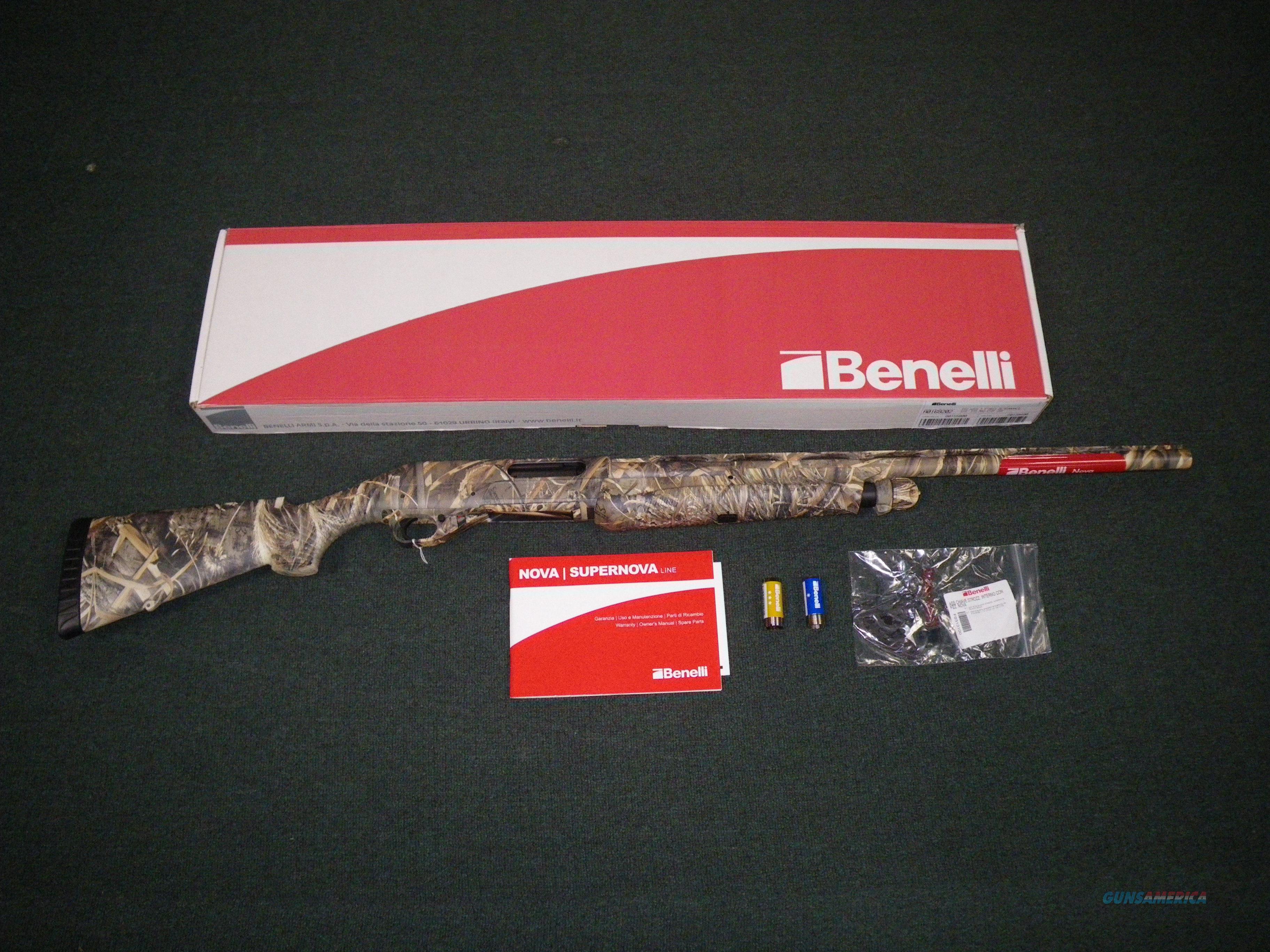 """Benelli Nova Pump 12ga 26"""" Realtree Max-5 #20076  Guns > Shotguns > Benelli Shotguns > Sporting"""