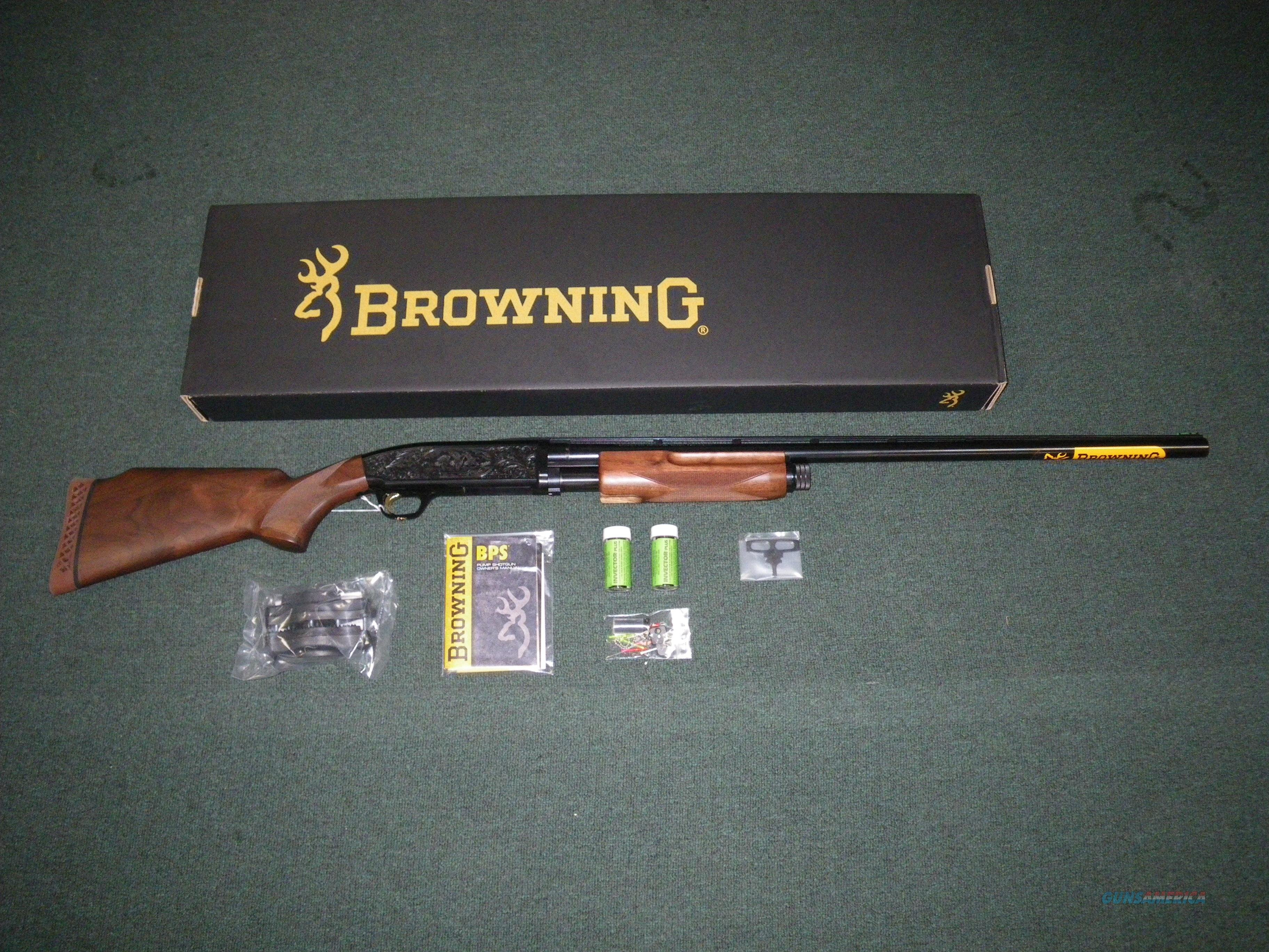 "Browning BPS Trap 12ga 30"" Engraved NIB #012242403  Guns > Shotguns > Browning Shotguns > Pump Action > Trap/Skeet"