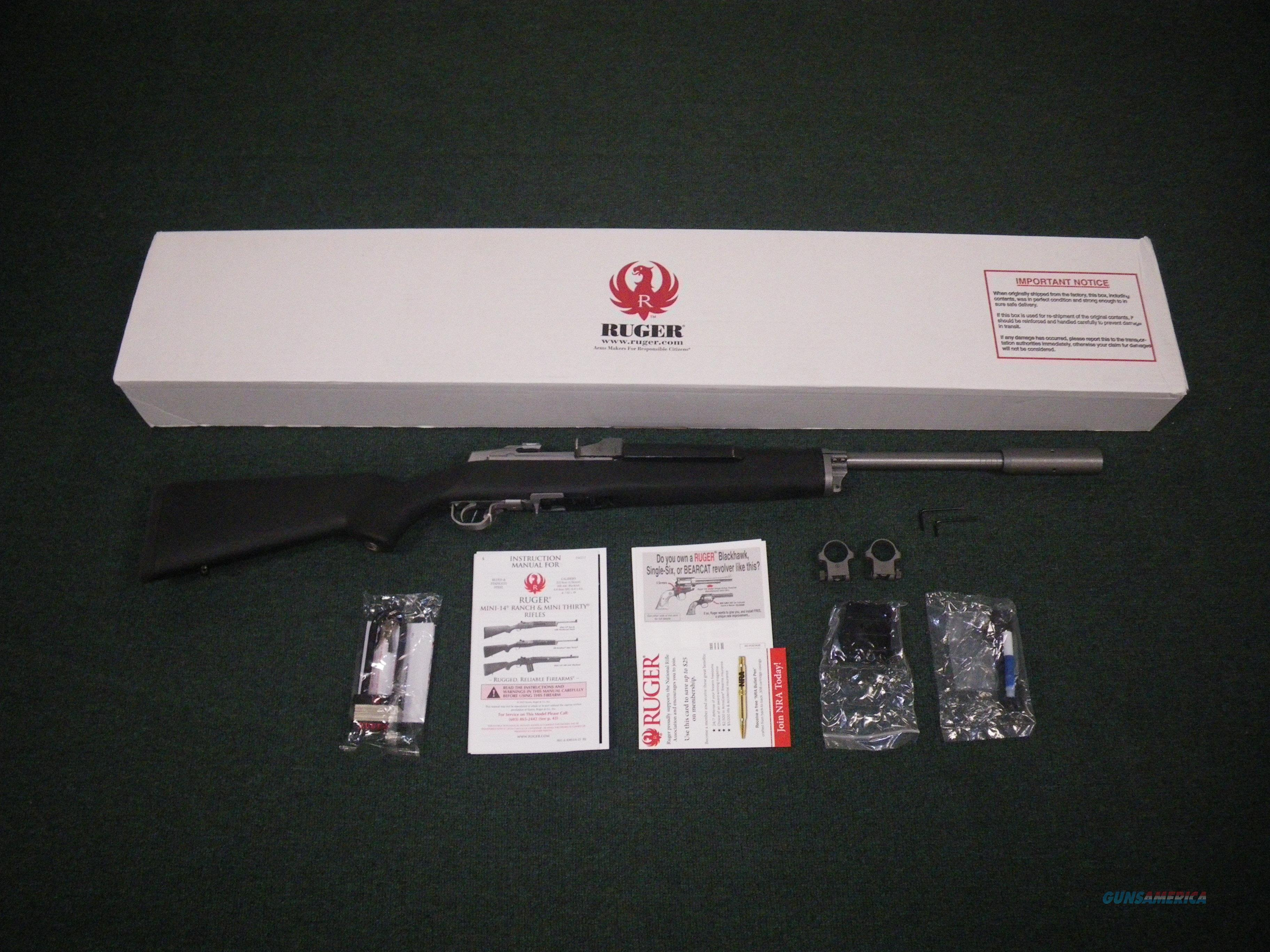 "Ruger Mini-14 Target Rifle .223 Rem 22"" Hogue NEW #5828  Guns > Rifles > Ruger Rifles > Mini-14 Type"