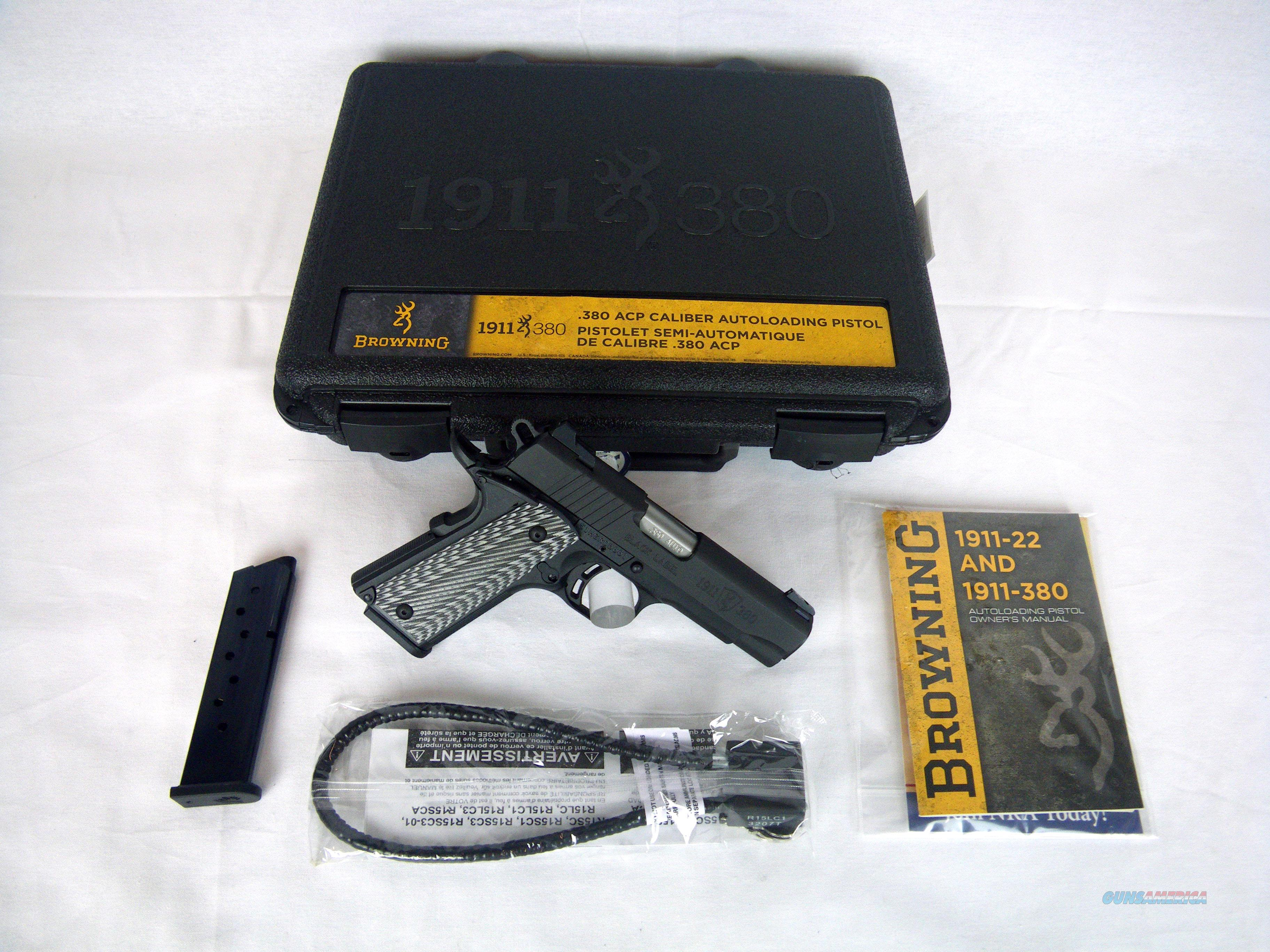 "Browning 1911-380 Black Label Pro 380ACP 3.63"" NEW #051910492  Guns > Pistols > Browning Pistols > Other Autos"