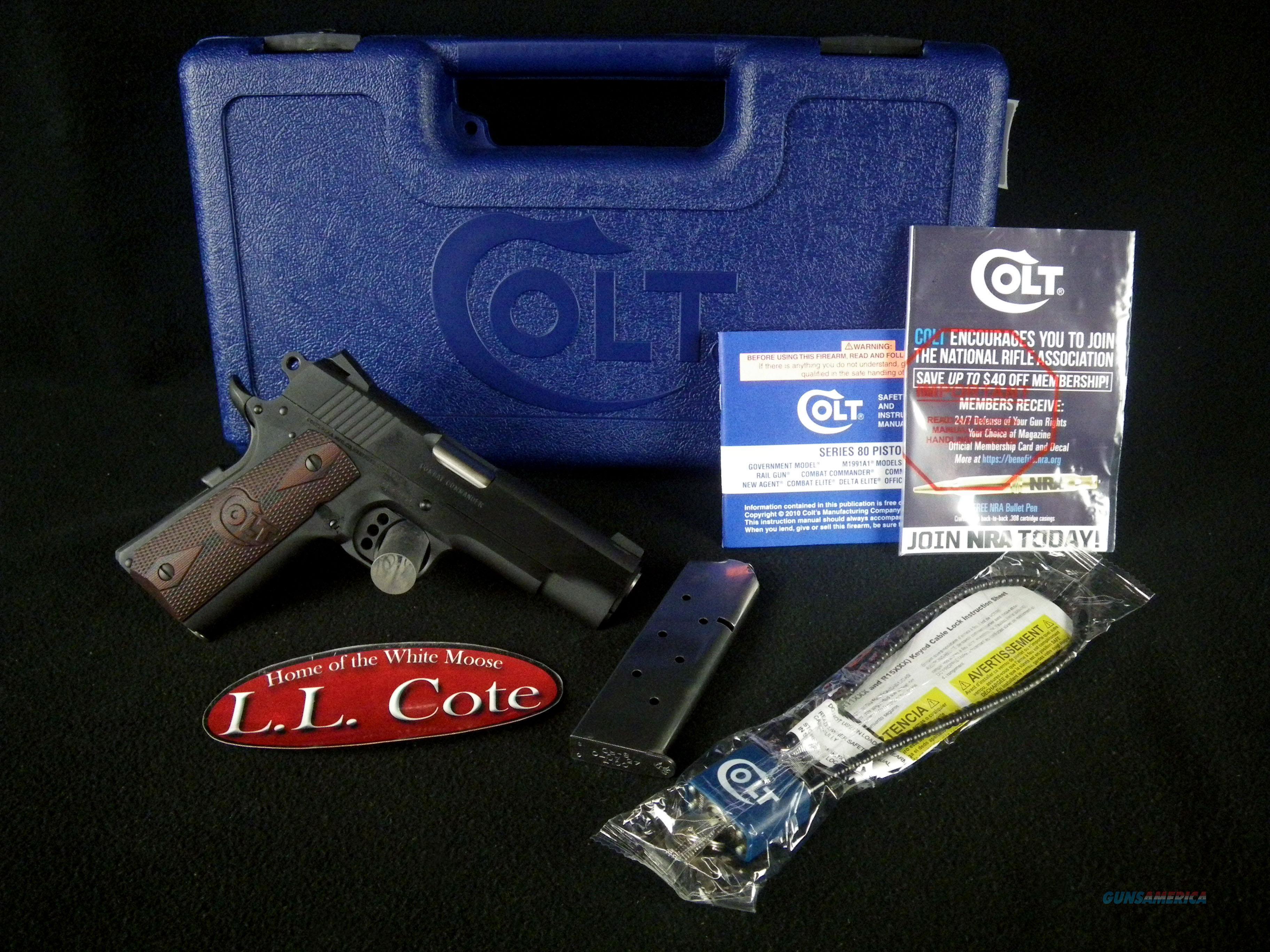 """Colt Combat Commander 45ACP 4.25"""" NEW O4940XE  Guns > Pistols > Colt Automatic Pistols (1911 & Var)"""