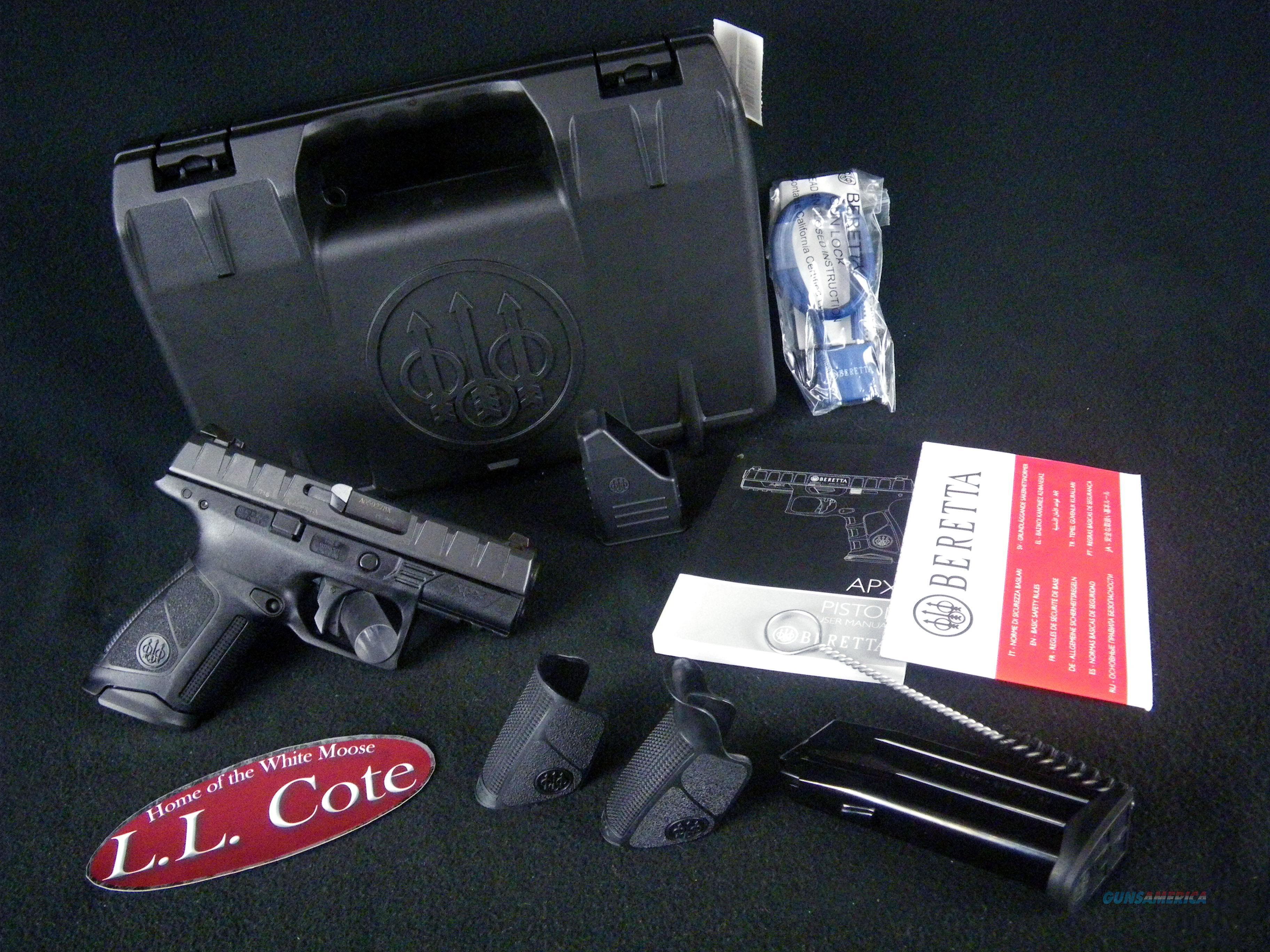 "Beretta APX Centurion Black 9mm 3.7"" NEW JAXQ921  Guns > Pistols > Beretta Pistols > Polymer Frame"