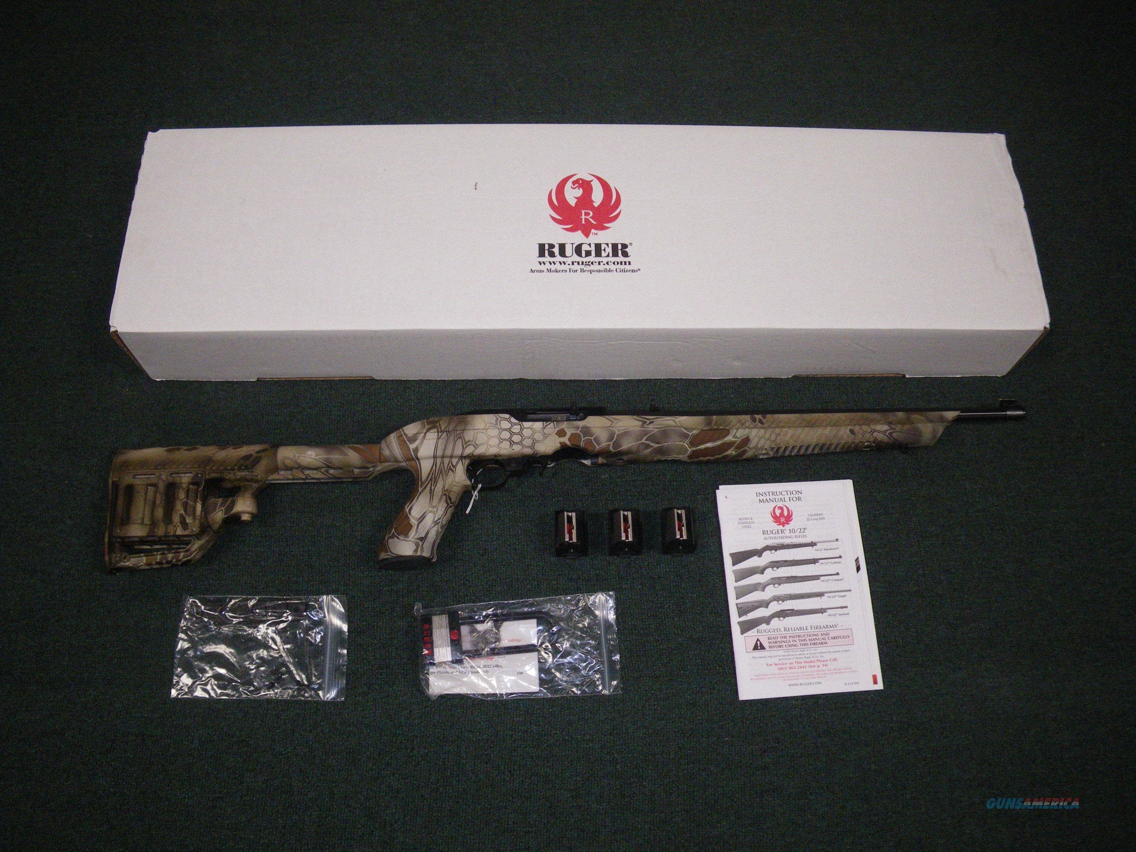 "Ruger 10/22-TS-KH Kryptek Highlander 22lr 16"" NEW #11157  Guns > Rifles > Ruger Rifles > 10-22"