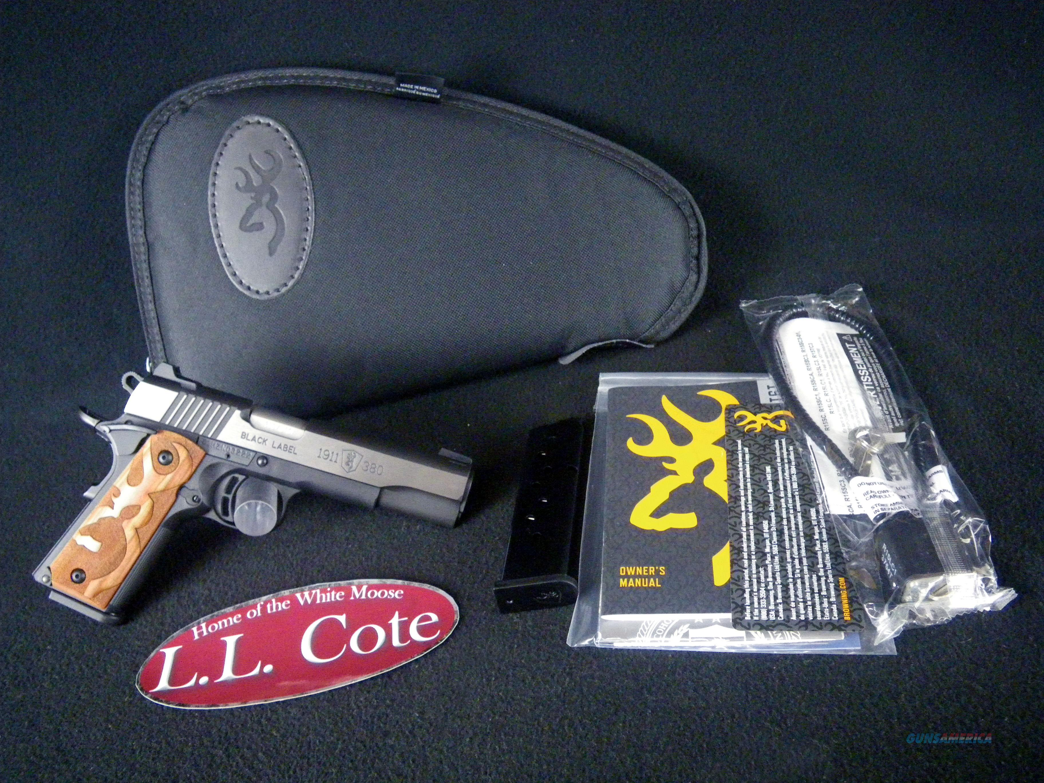 """Browning 1911-380 Black Label Medallion 380ACP 4.25"""" NEW 051950492  Guns > Pistols > Browning Pistols > Other Autos"""