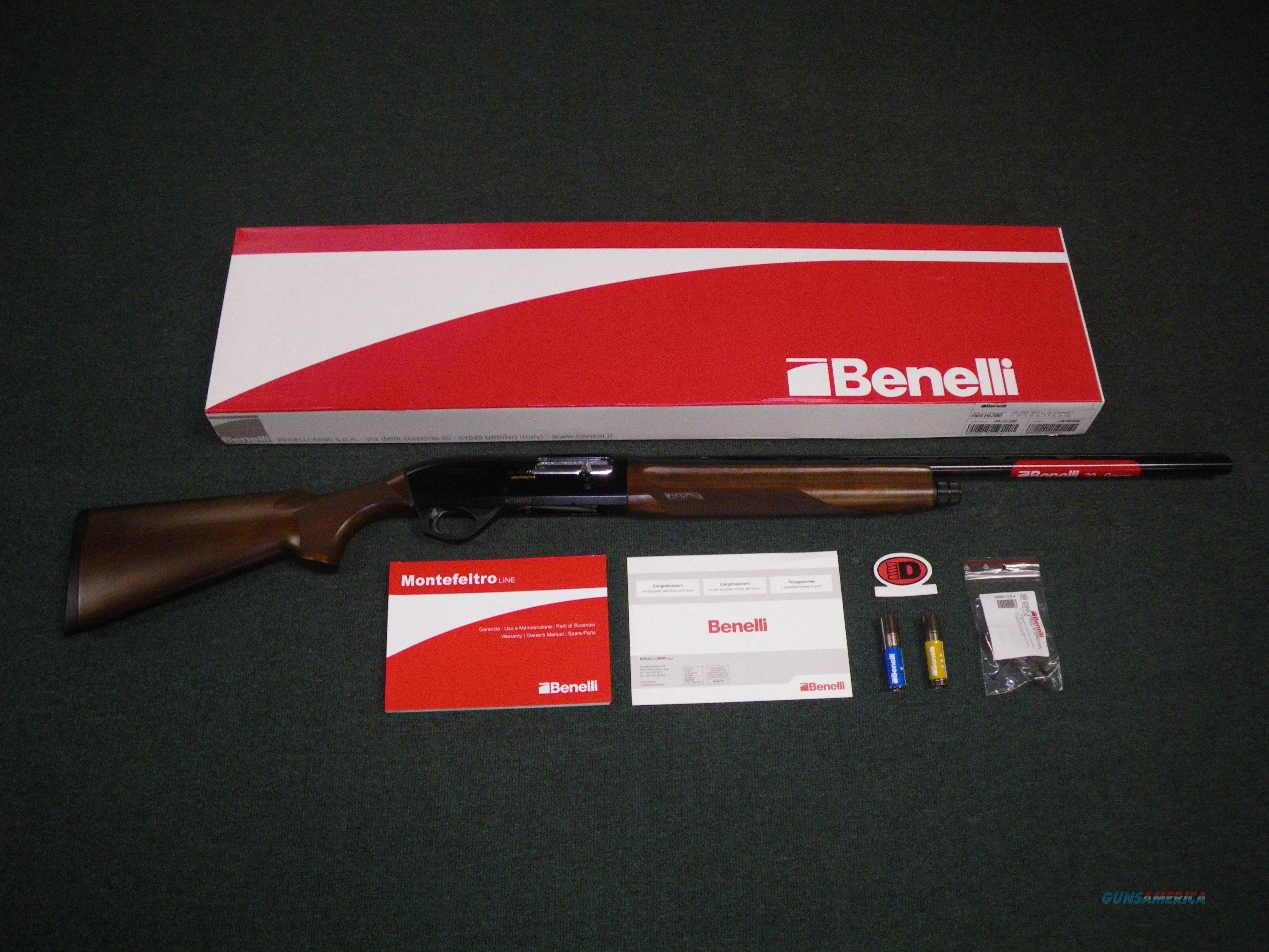 """Benelli Montefeltro Wood/Blued 20ga 24"""" NEW #10867  Guns > Shotguns > Benelli Shotguns > Sporting"""
