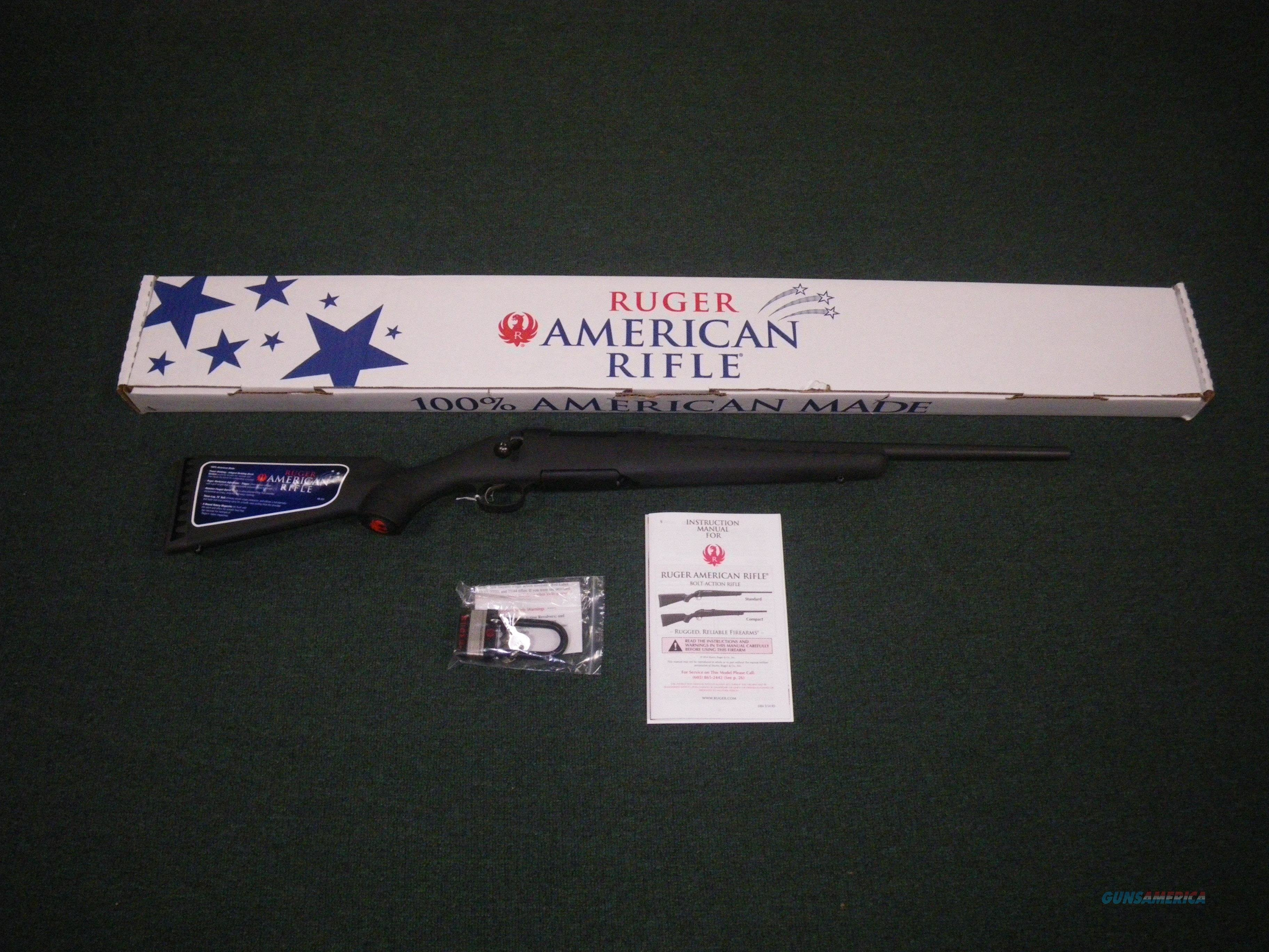 "Ruger American Compact Matte Black 7mm-08 Rem 18"" #6909  Guns > Rifles > Ruger Rifles > American"