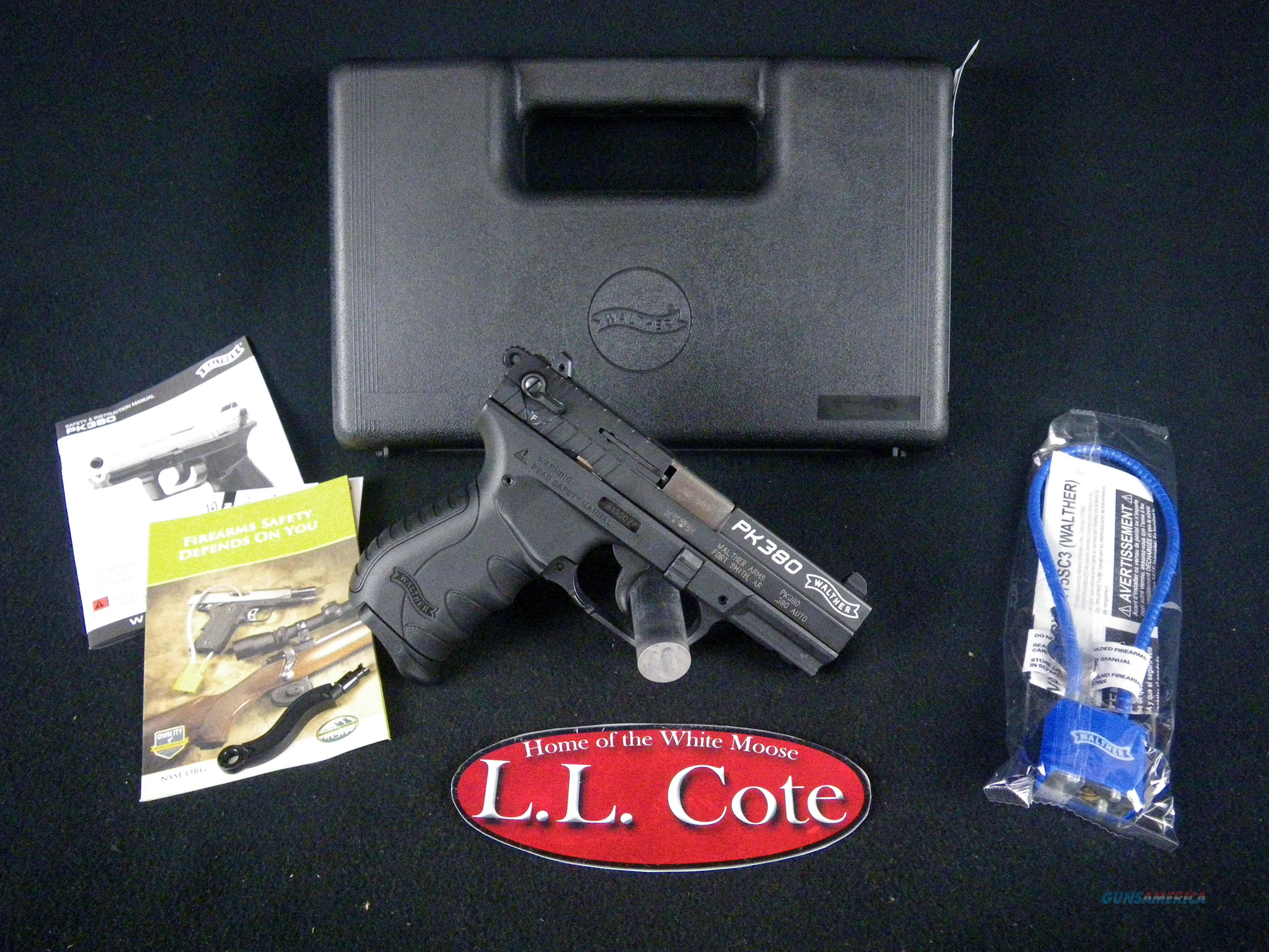 """Walther PK380 380ACP 3.66"""" Black/Syn NEW 5050308  Guns > Pistols > Walther Pistols > Post WWII > PK380"""