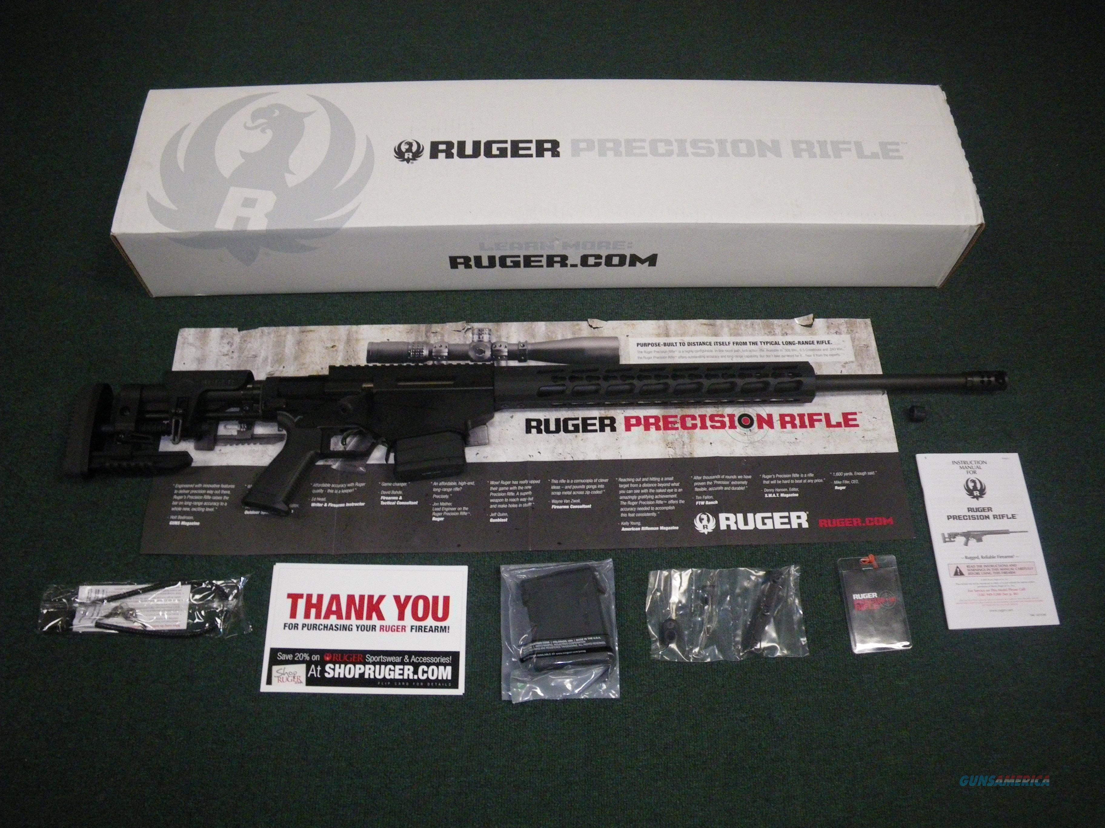 "Ruger Precision Rifle 6mm Creedmoor 24"" NEW #18016  Guns > Rifles > Ruger Rifles > Precision Rifle Series"