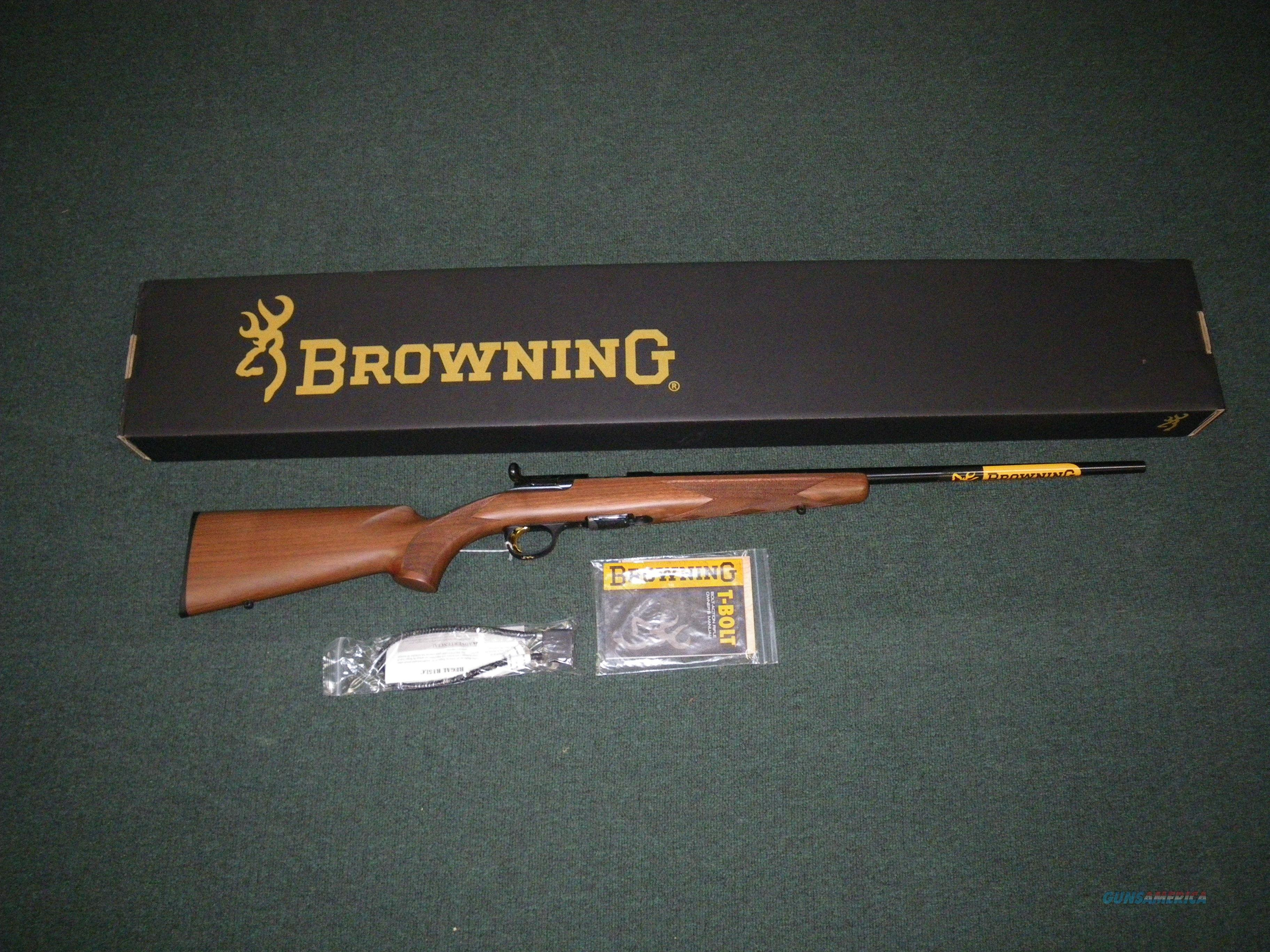 "Browning T-Bolt Sporter Wood 22 LR 22"" #025175202  Guns > Rifles > Browning Rifles > Bolt Action > Hunting > Blue"